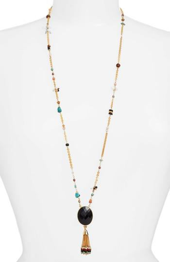 Gas Bijoux beaded tassel necklace - Metallic oBfd9uN2Zn