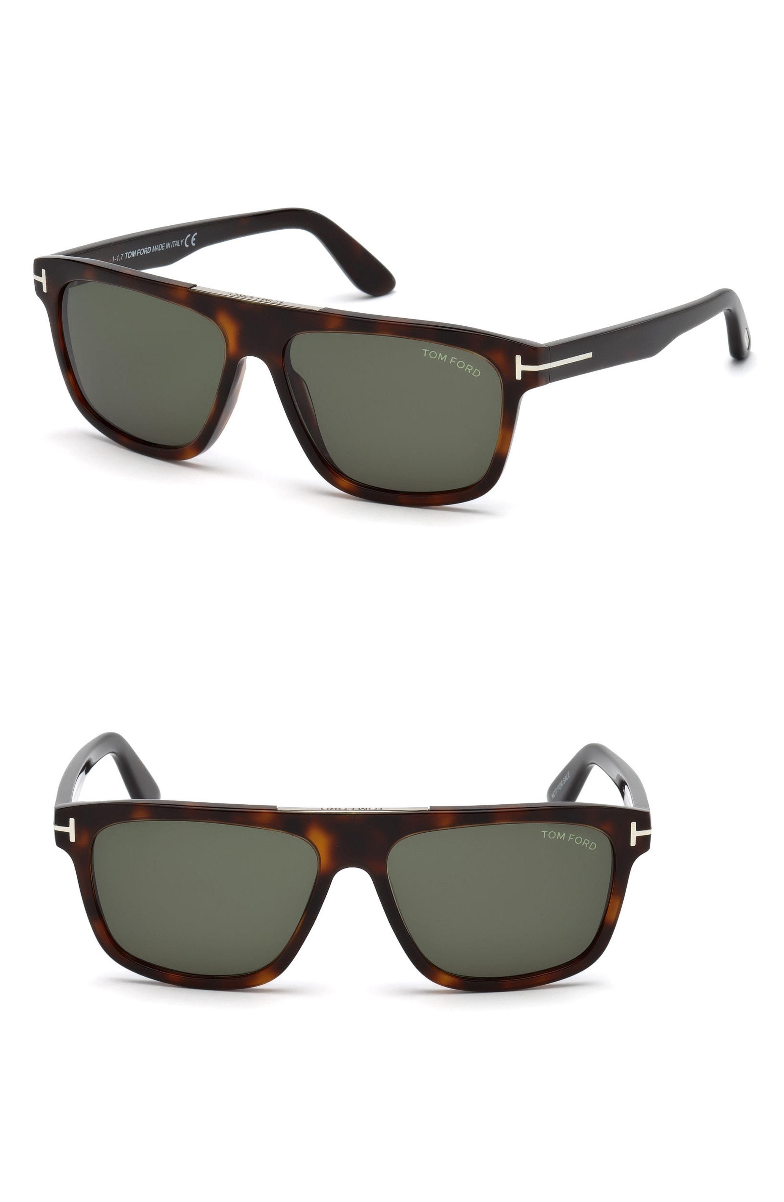 beb295394115 Tom Ford - Cecilio 57mm Sunglasses - Dark Havana   Green for Men - Lyst.  View fullscreen