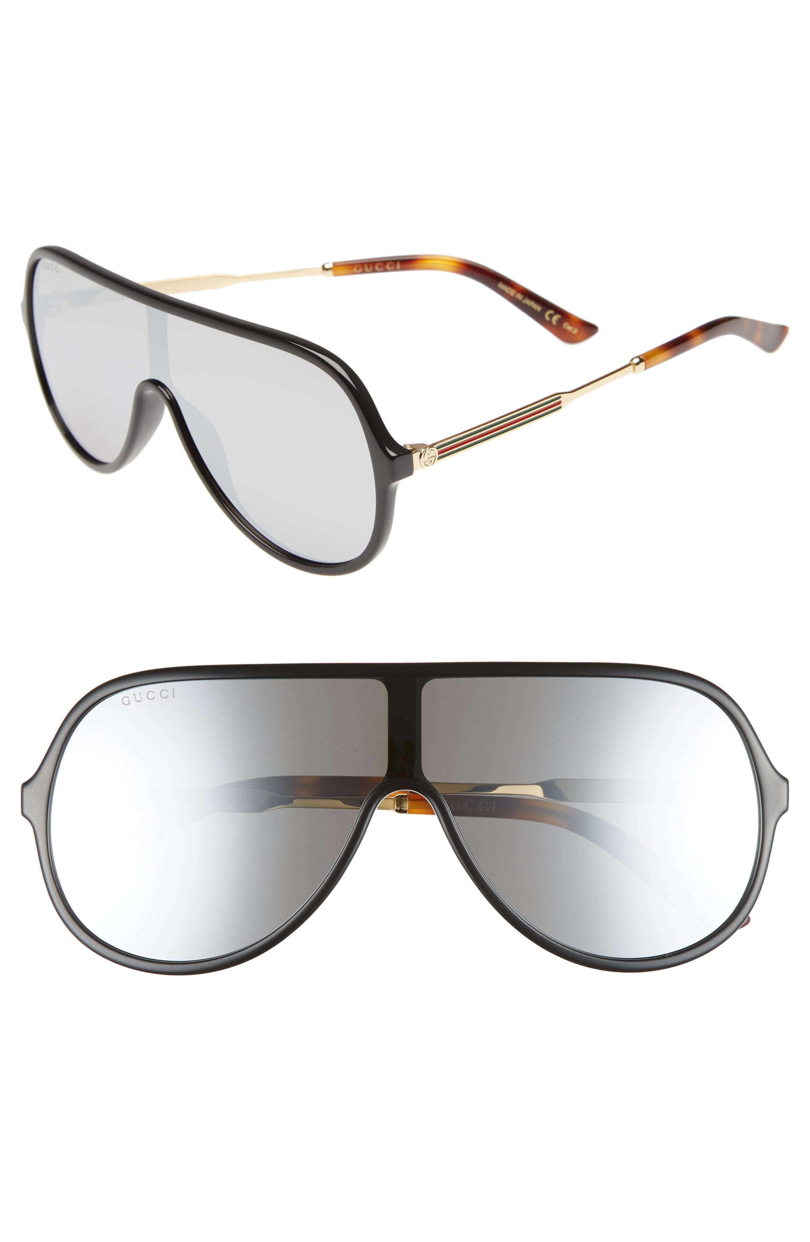 40204f40e94 Lyst - Gucci 99mm Oversize Shield Sunglasses - for Men