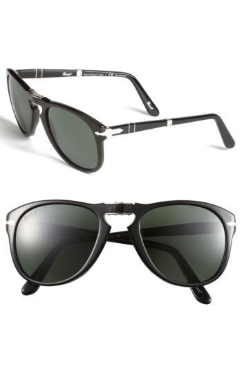 e9702e061a Lyst - Persol  714  57mm Folding Polarized Keyhole Sunglasses in ...