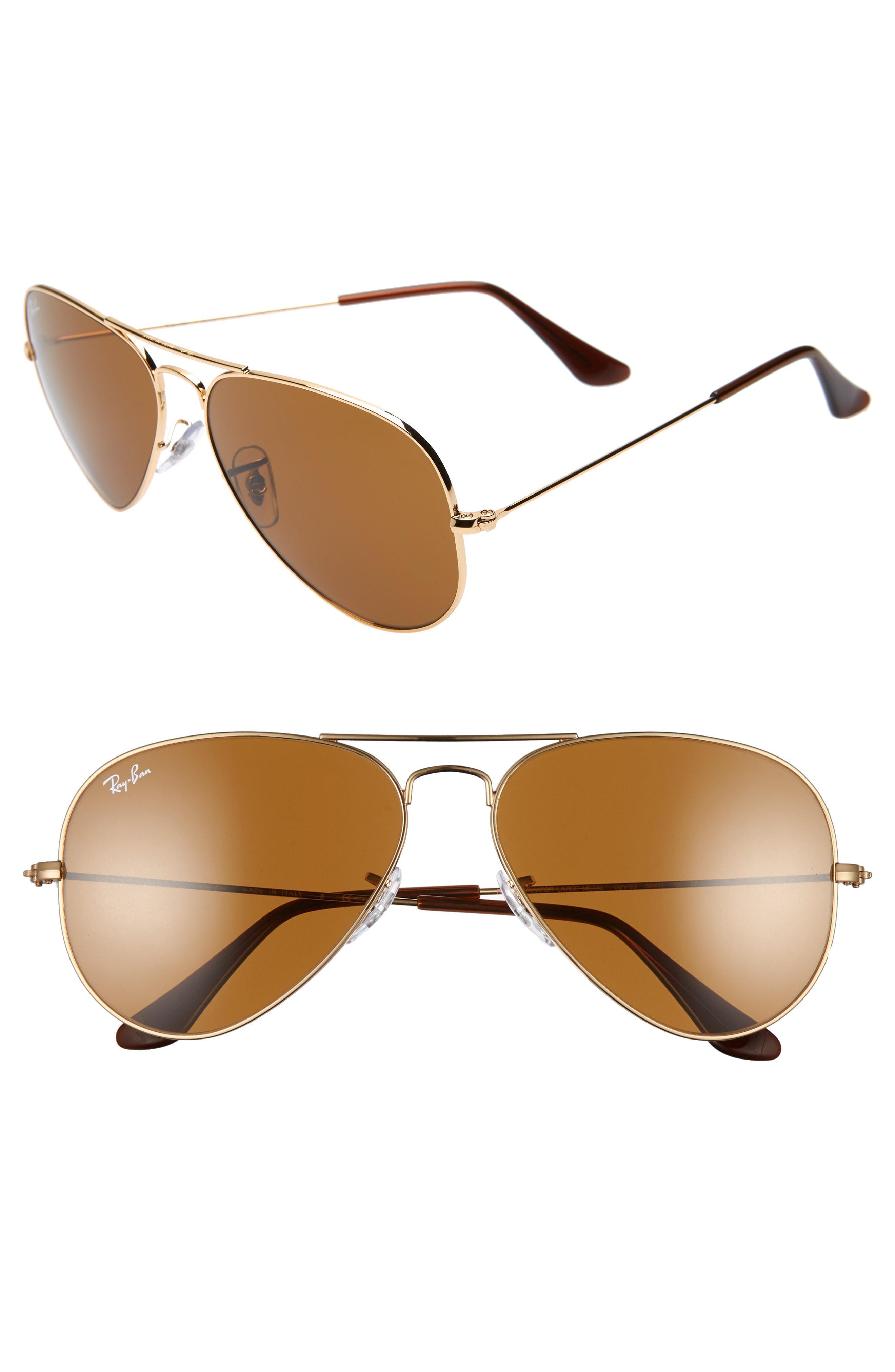 4a38a05e9ea Lyst - Ray-Ban Standard Original 58mm Aviator Sunglasses in Blue