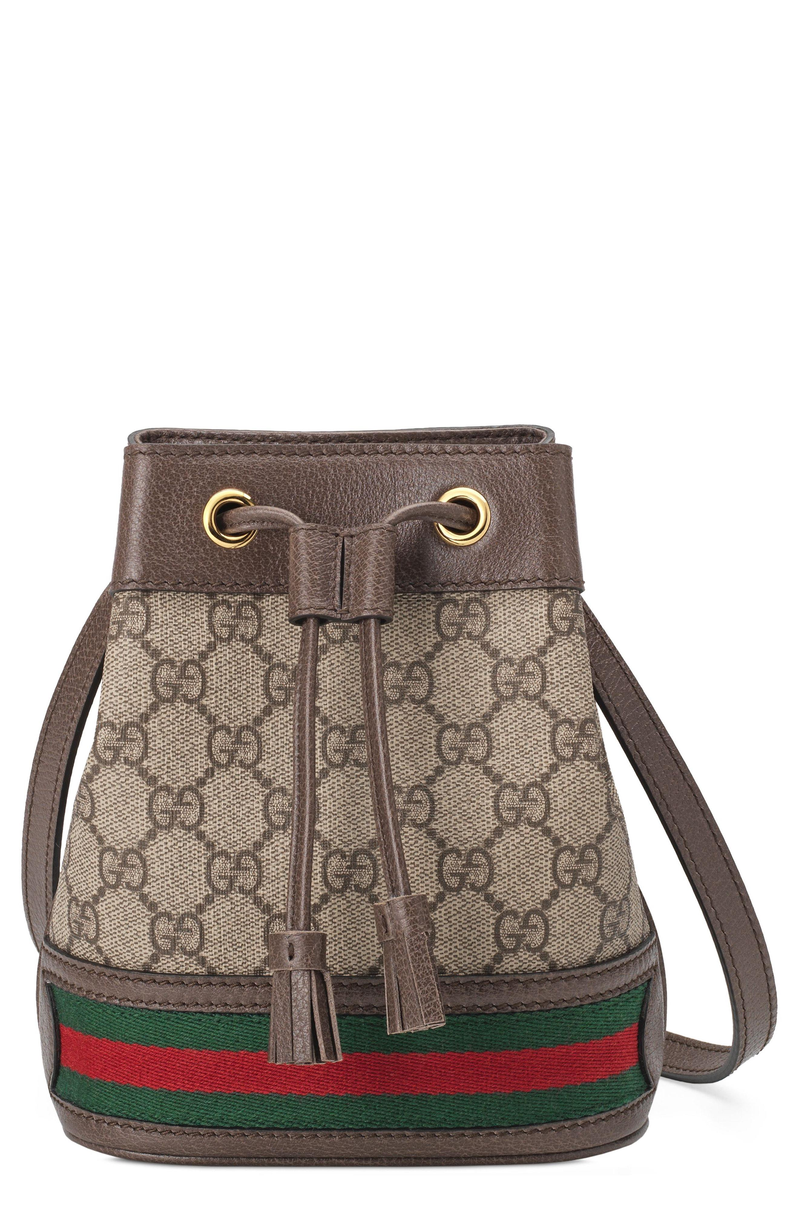db89a9610ba Gucci. Women s Mini Ophidia Gg Supreme Bucket Bag