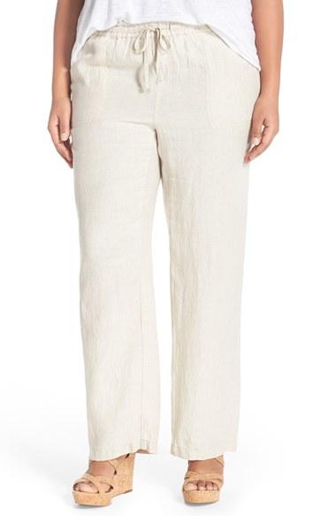 Caslon Caslon Drawstring Linen Pants In Natural Lyst