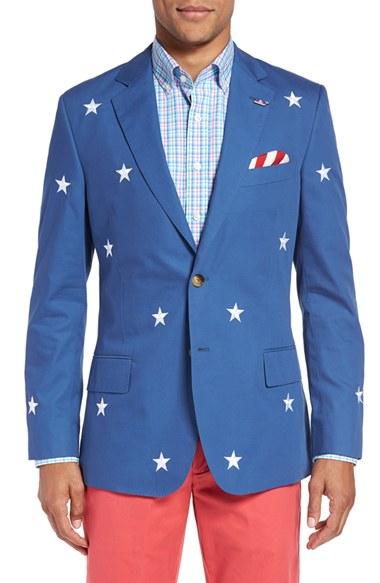 Vineyard Vines Stars Amp Stripes Embroidered Sport Coat In