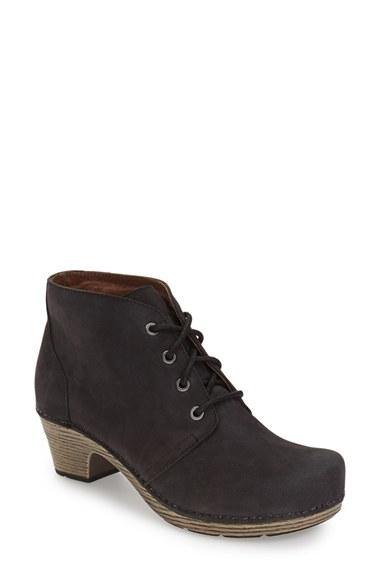 Dansko Meena Lace Up Boots In Black Lyst