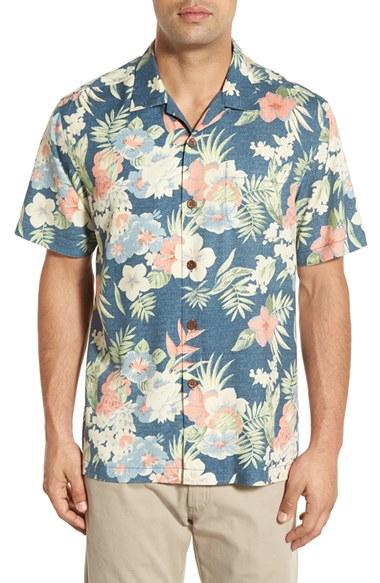 Tommy Bahama 39 Ikebana Floral 39 Original Fit Silk Camp Shirt