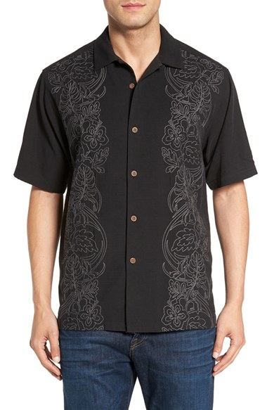Tommy bahama 39 verdera vines 39 embroidered silk blend camp for Tommy bahama embroidered silk camp shirt
