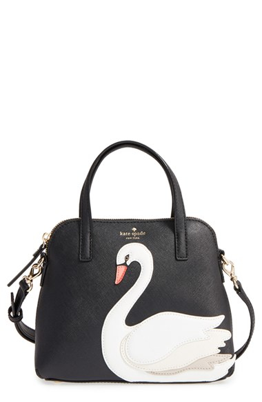 Kate Spade New York Swan Small Maise Leather Satchel