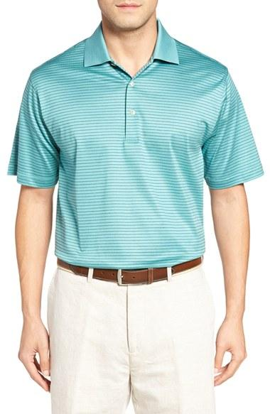 Lyst peter millar 39 subconscious 39 stripe golf polo in for Peter millar women s golf shirts