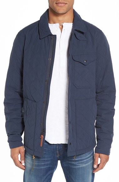 Lyst Relwen Quilted Field Jacket In Blue For Men
