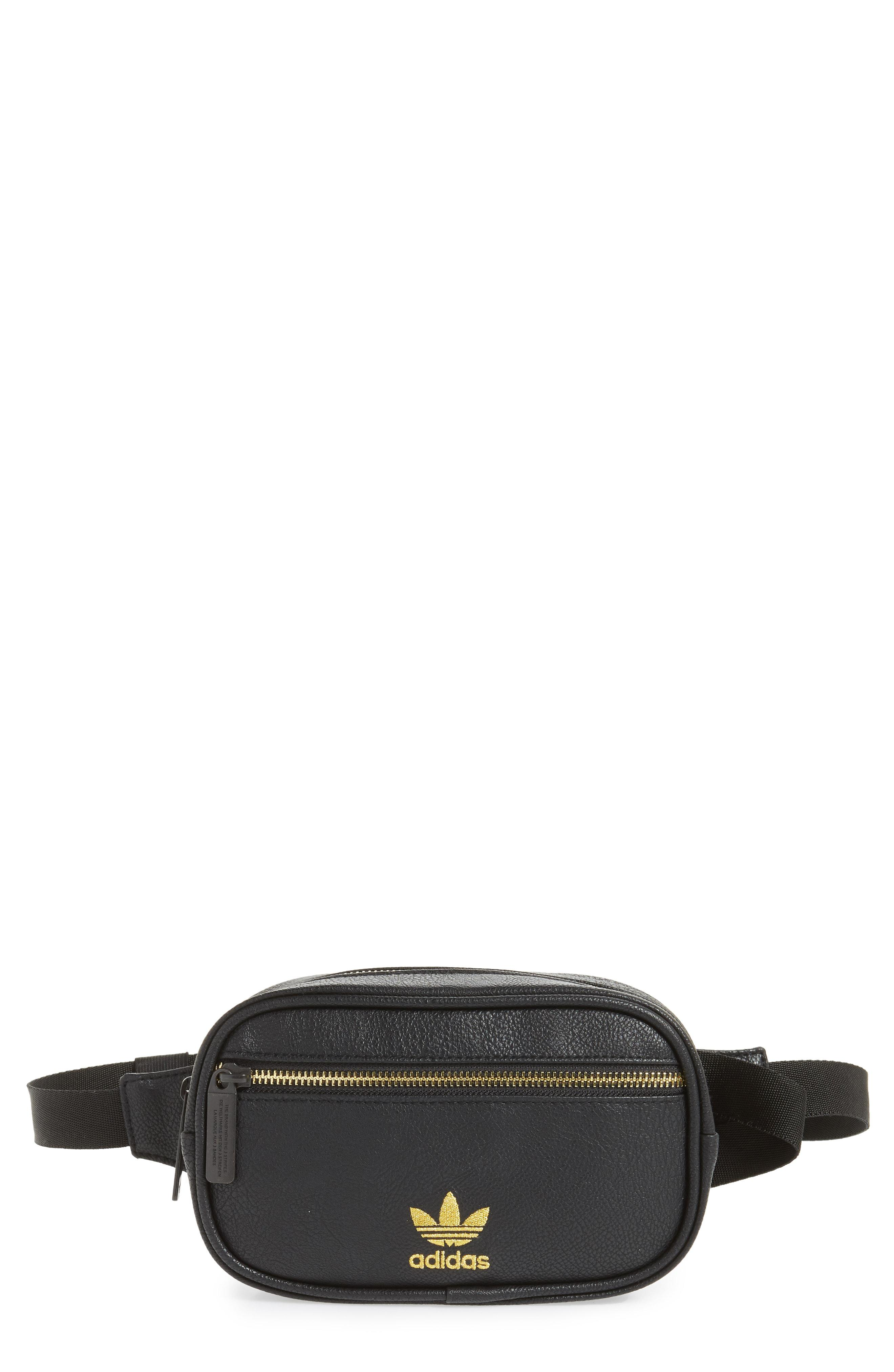 Lyst - adidas Originals Adidas Ori Faux Leather Fanny Pack in Black cd323c136