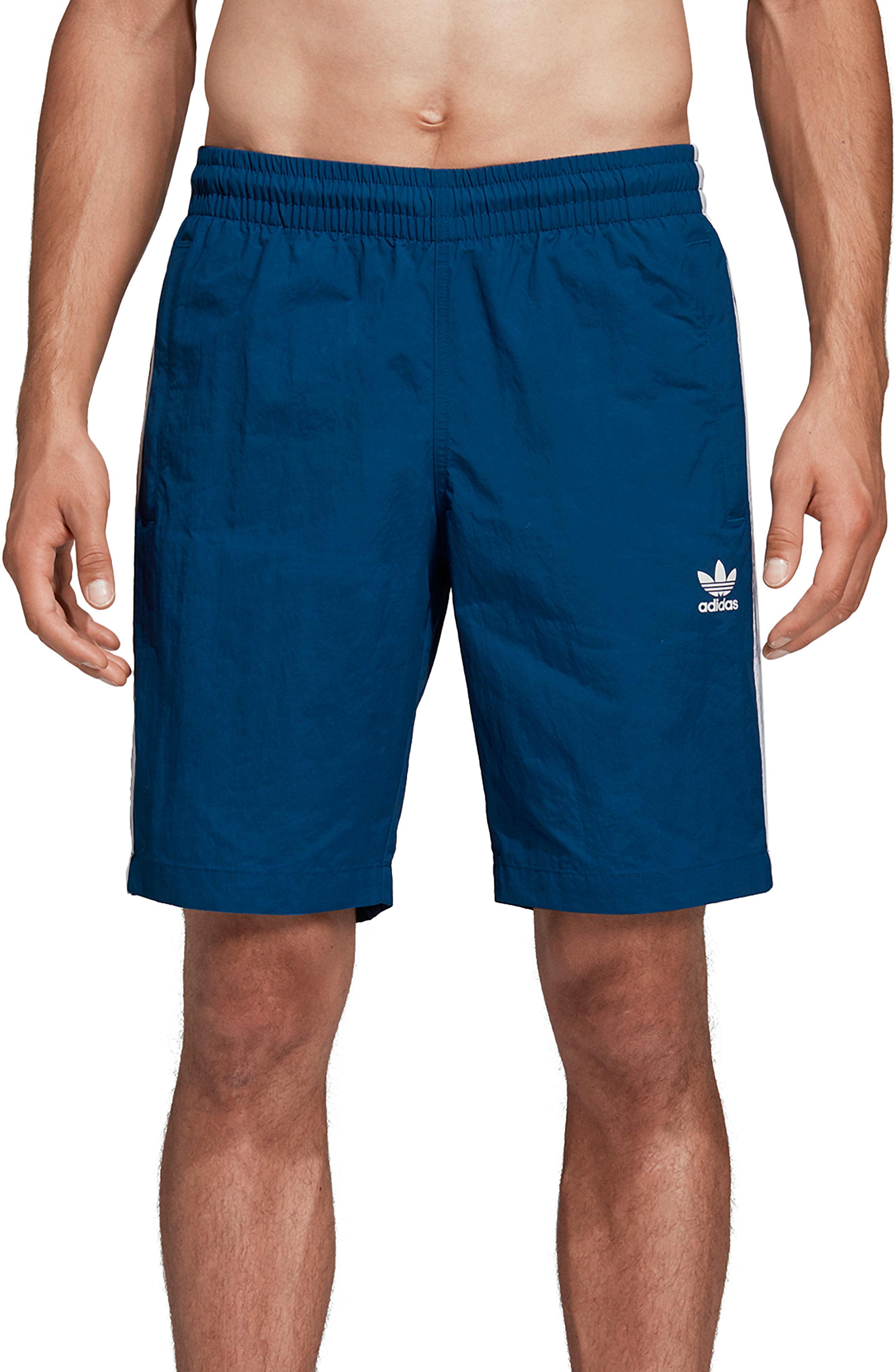 8945a68641 Lyst - adidas Originals 3-stripes Swim Trunks in Black for Men