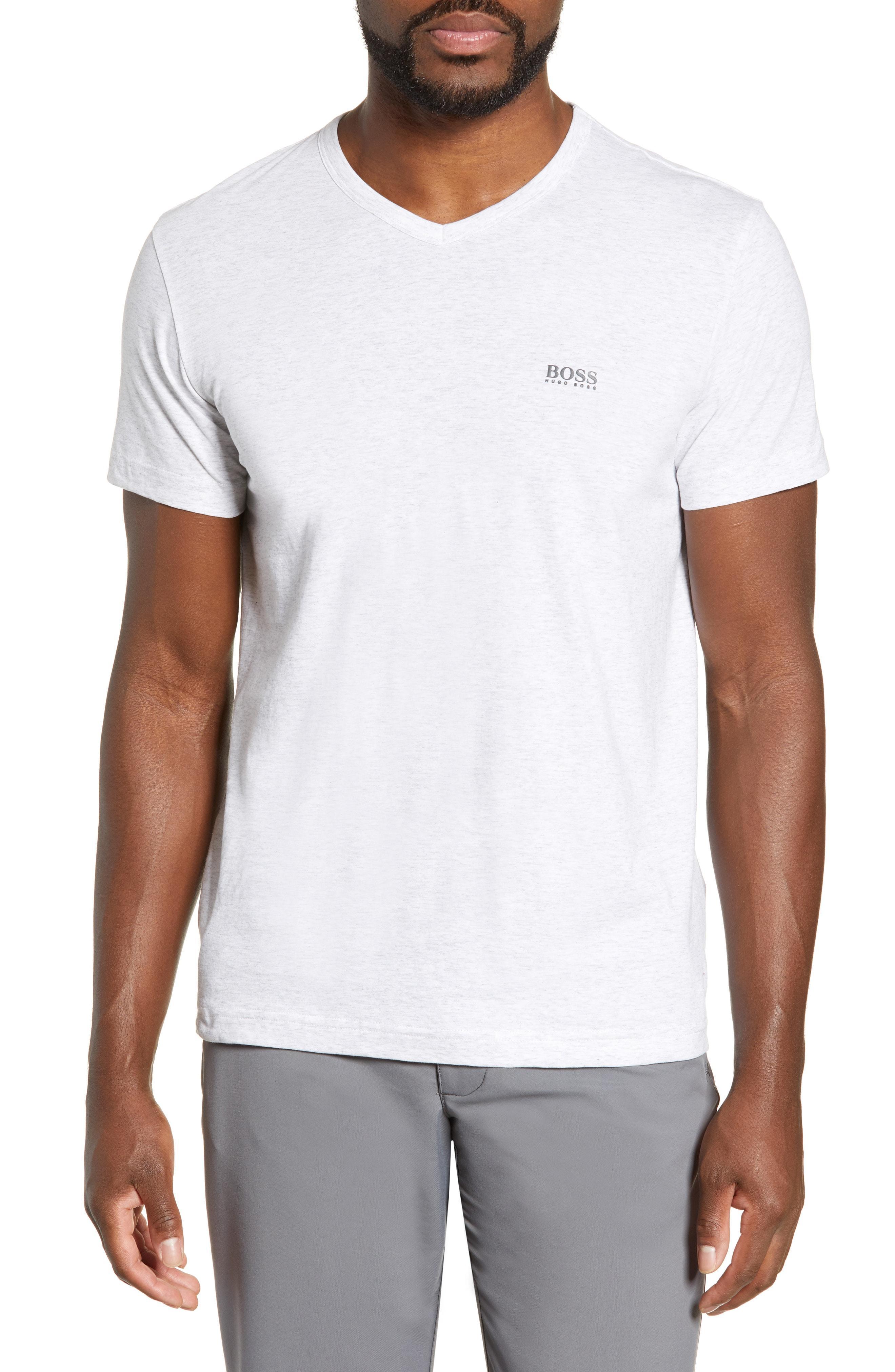 c5eae443d Lyst - BOSS Teevn V-neck Logo T-shirt in Gray for Men