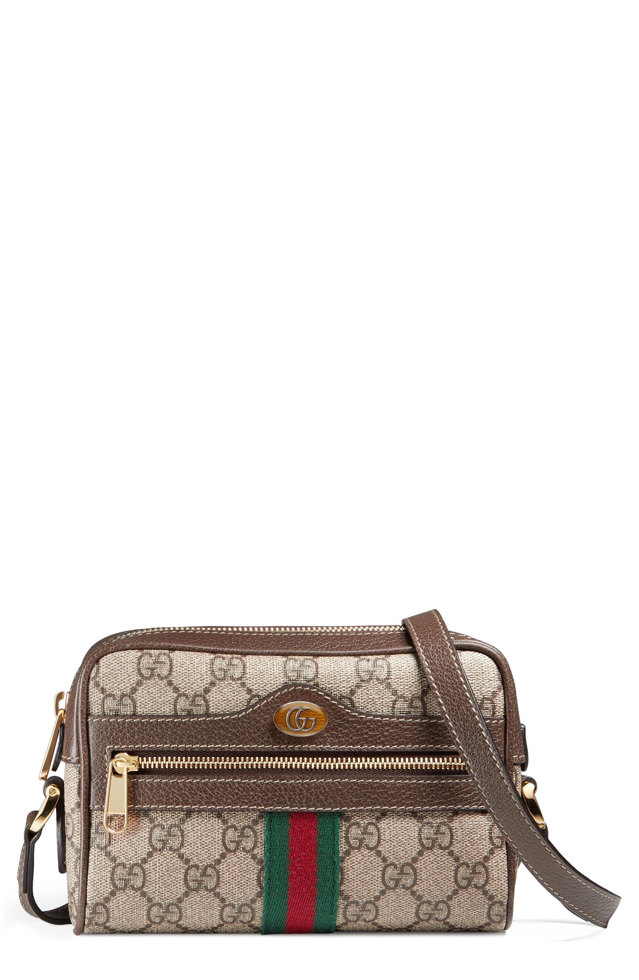 79f2ab6d007e Gucci Ophidia Small Gg Supreme Canvas Crossbody Bag in Natural ...