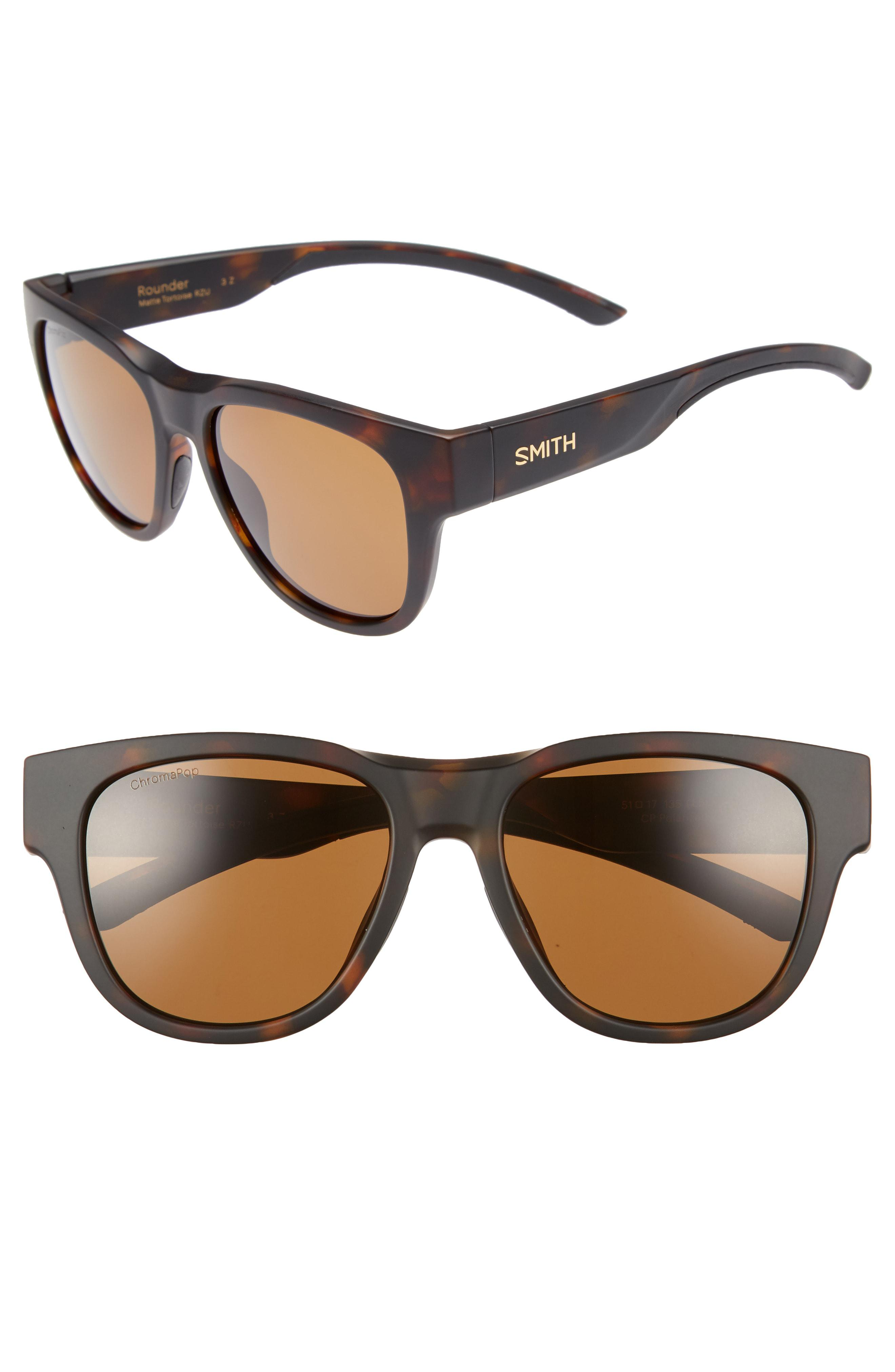 8c3ae177a24 Lyst - Smith Rounder 52mm Chromapop Polarized Sunglasses - in Brown