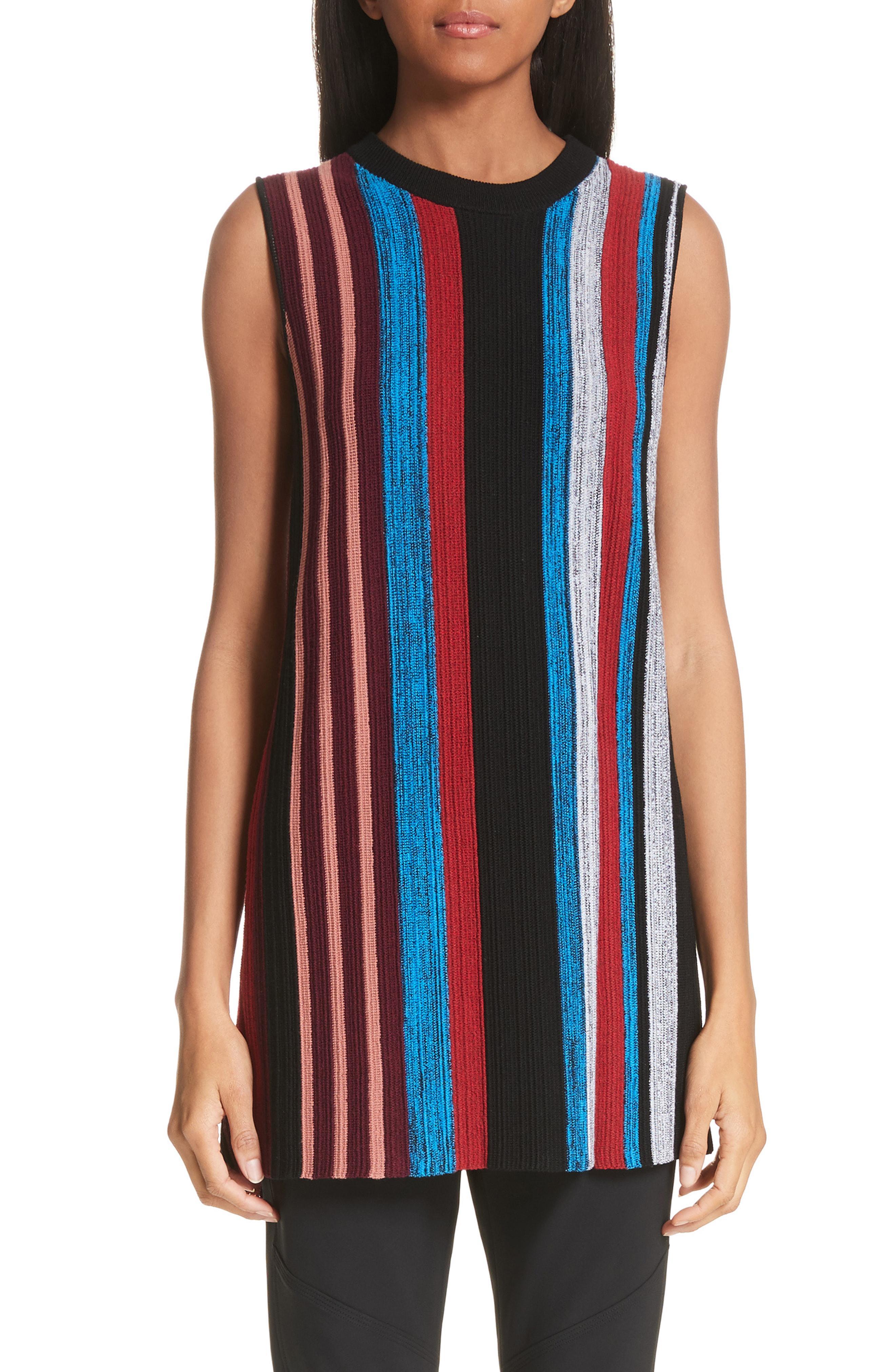 5b60b104ca276 Lyst - Proenza Schouler Stripe Wool   Silk Blend Ottoman Sweater ...