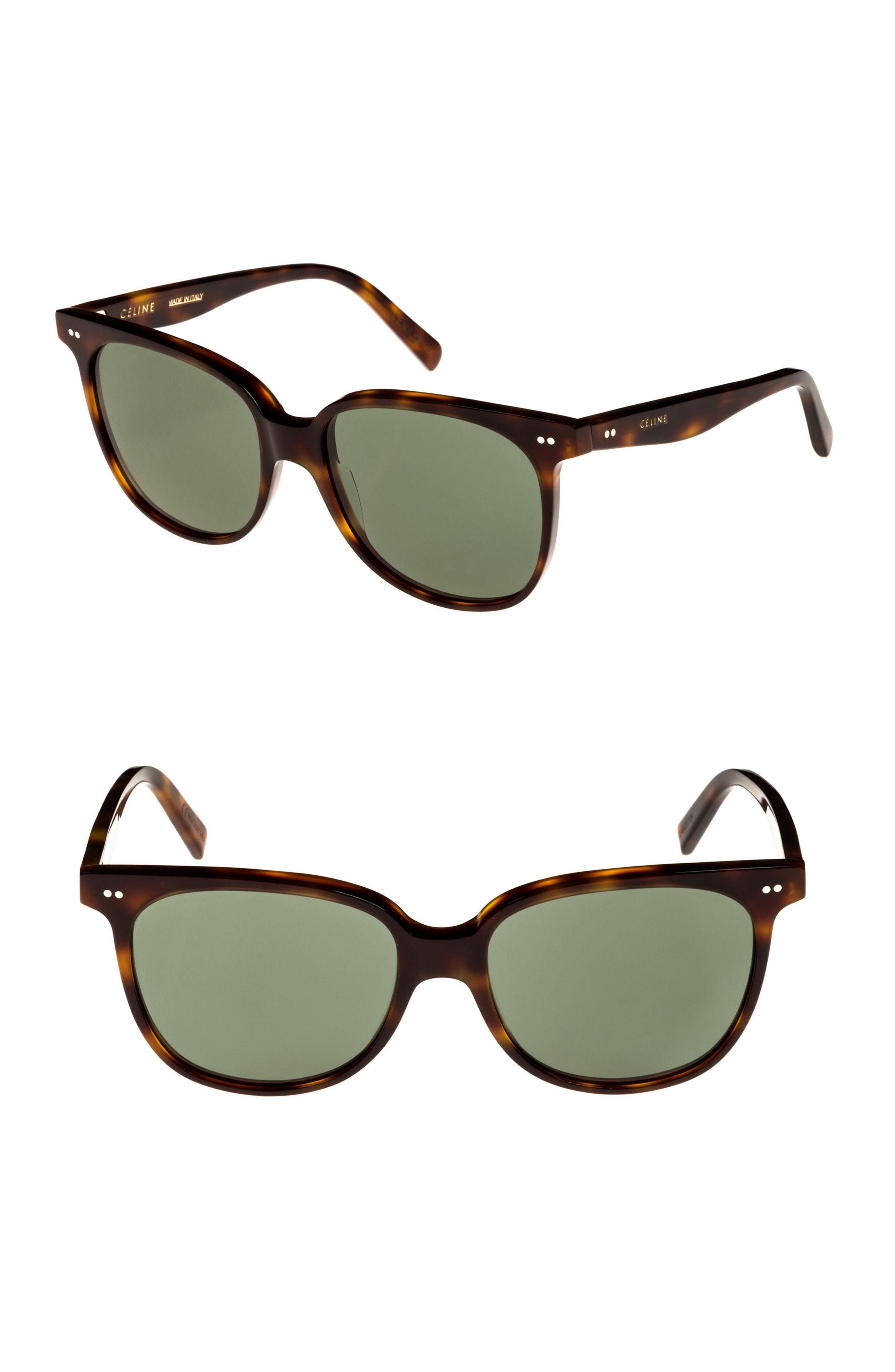 2ccf69671f Lyst - Céline 57mm Square Sunglasses - Blonde Havana  Green in Green