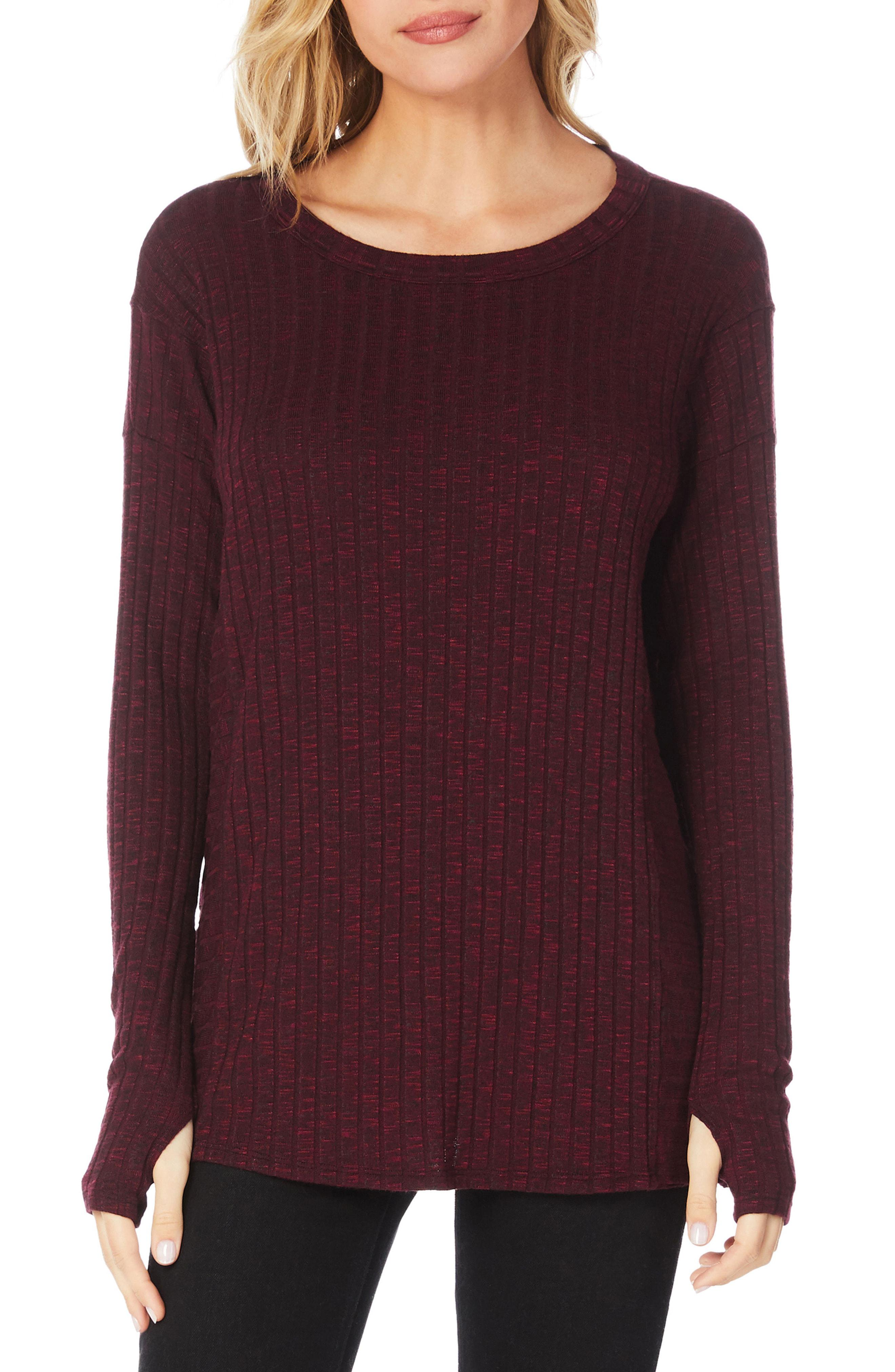 8632418043de1f Lyst - Michael Stars Jasper Poorboy Scoop Neck Top in Purple