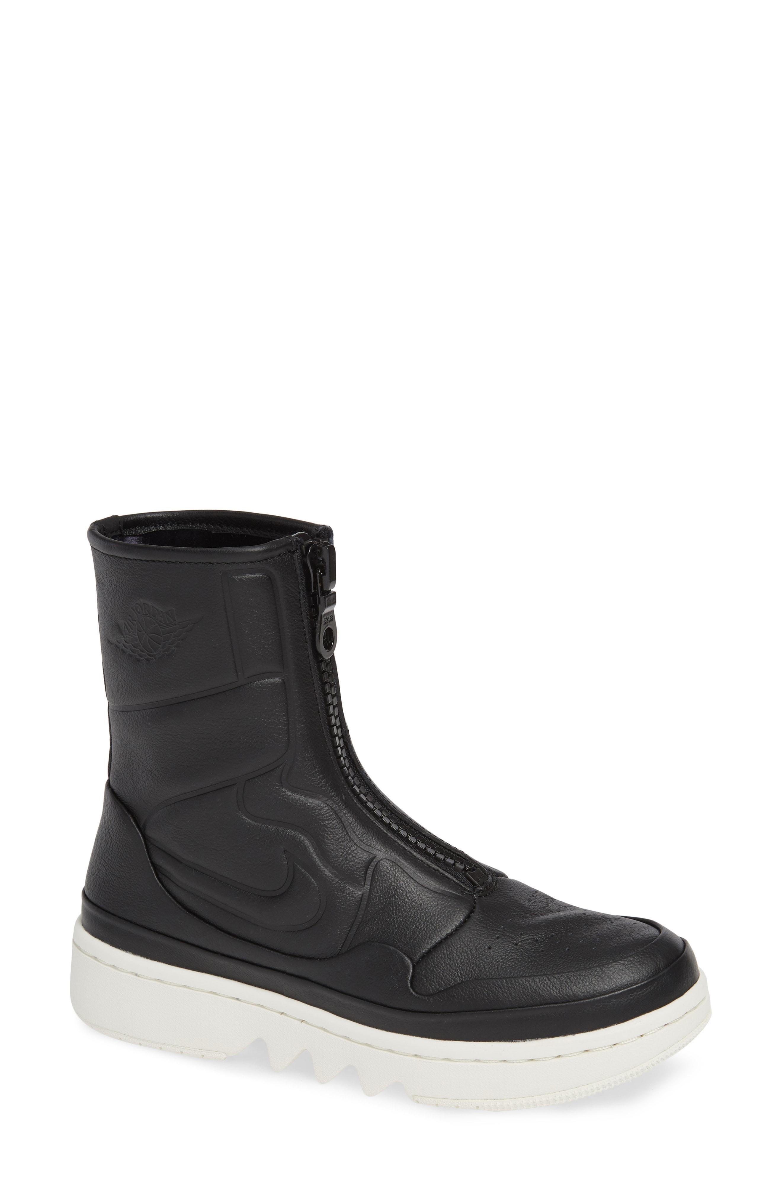 Lyst - Nike Air Jordan 1 Jester Xx Front Zip Sneaker Bootie in Black d125a11e7