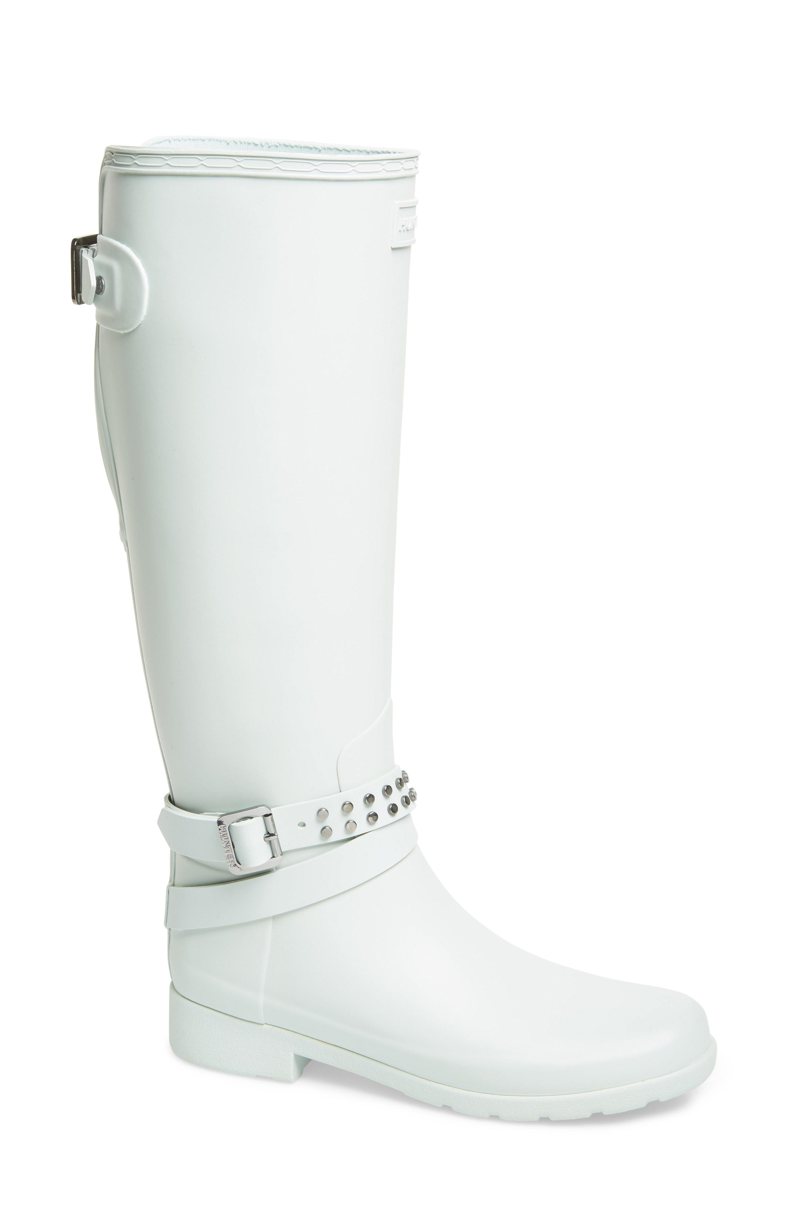 4058700f1 HUNTER Refined Adjustable Back Knee High Waterproof Rain Boot in ...