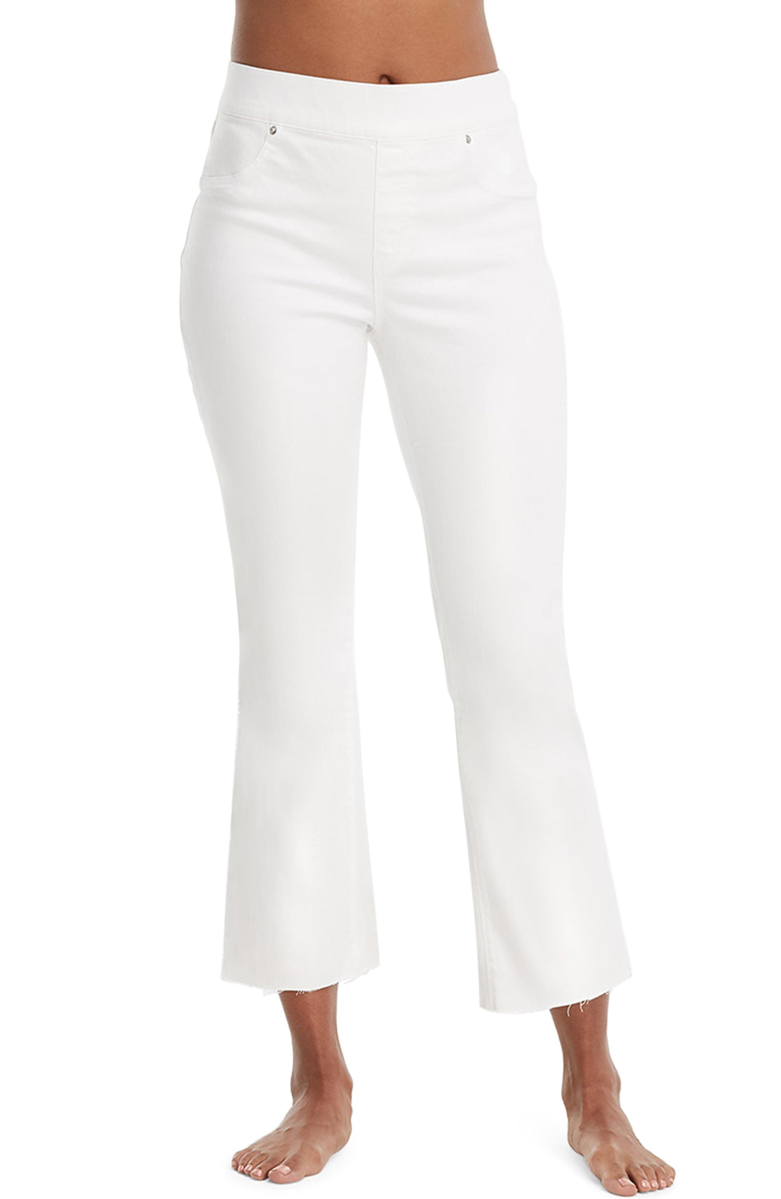 97c370bfa4e1c5 Lyst - Spanx Spanx Cropped Flare Denim Leggings in White
