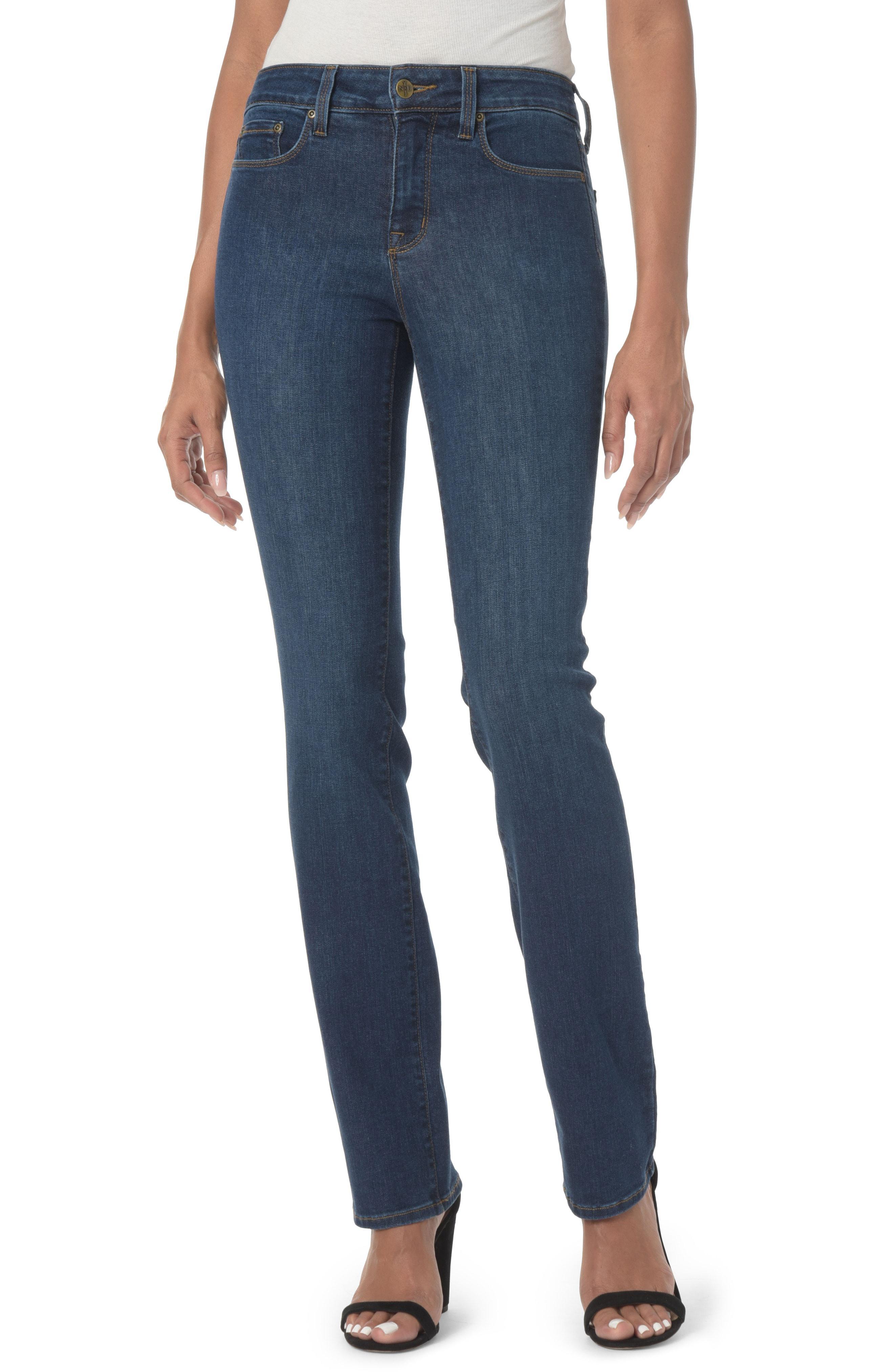 7c919594049 Lyst - Nydj Marilyn High Waist Stretch Straight Leg Jeans in Blue