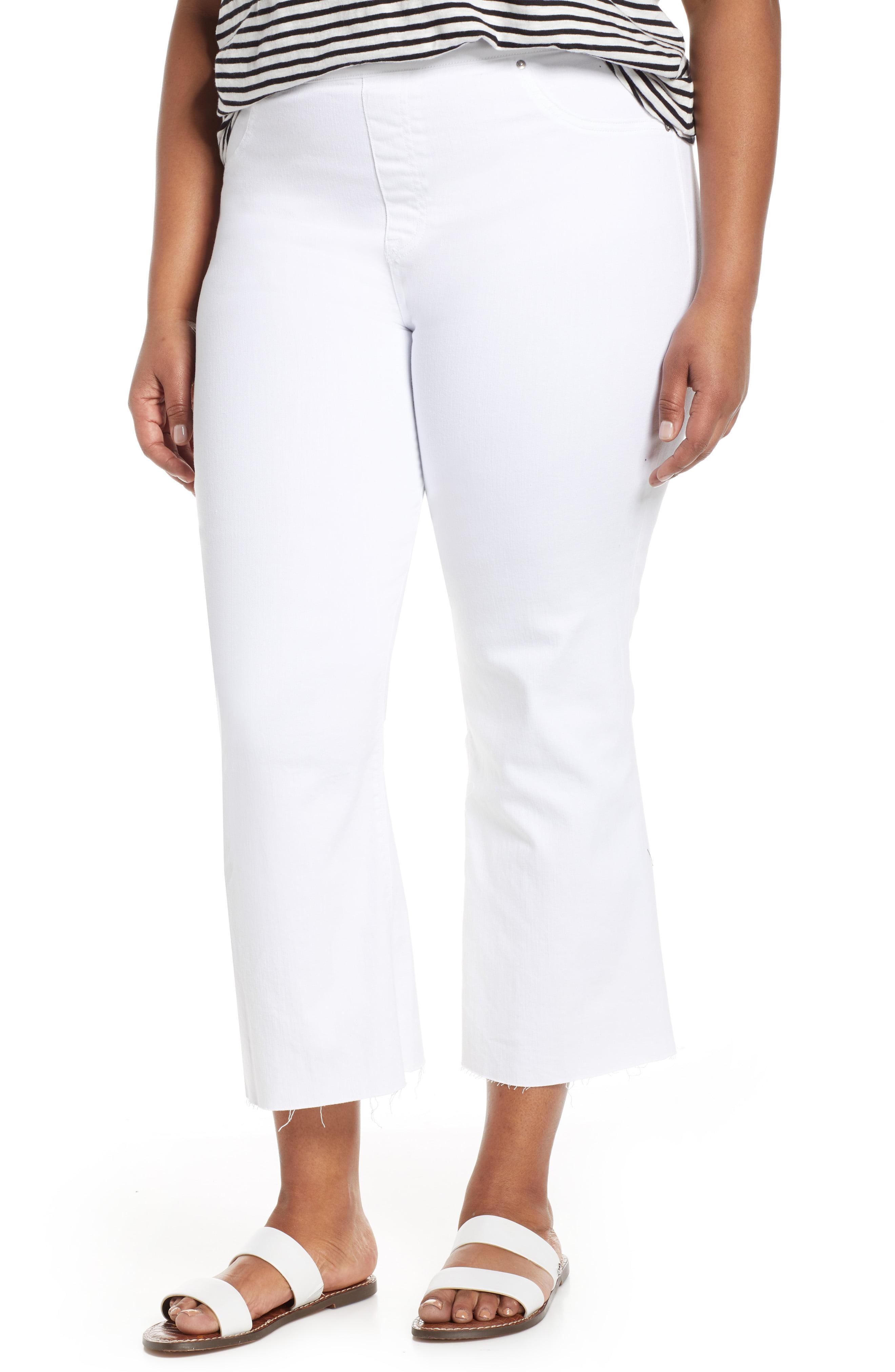 38f8cb9dc1b9d0 Lyst - Spanx Spanx Crop Flare Denim Leggings in White