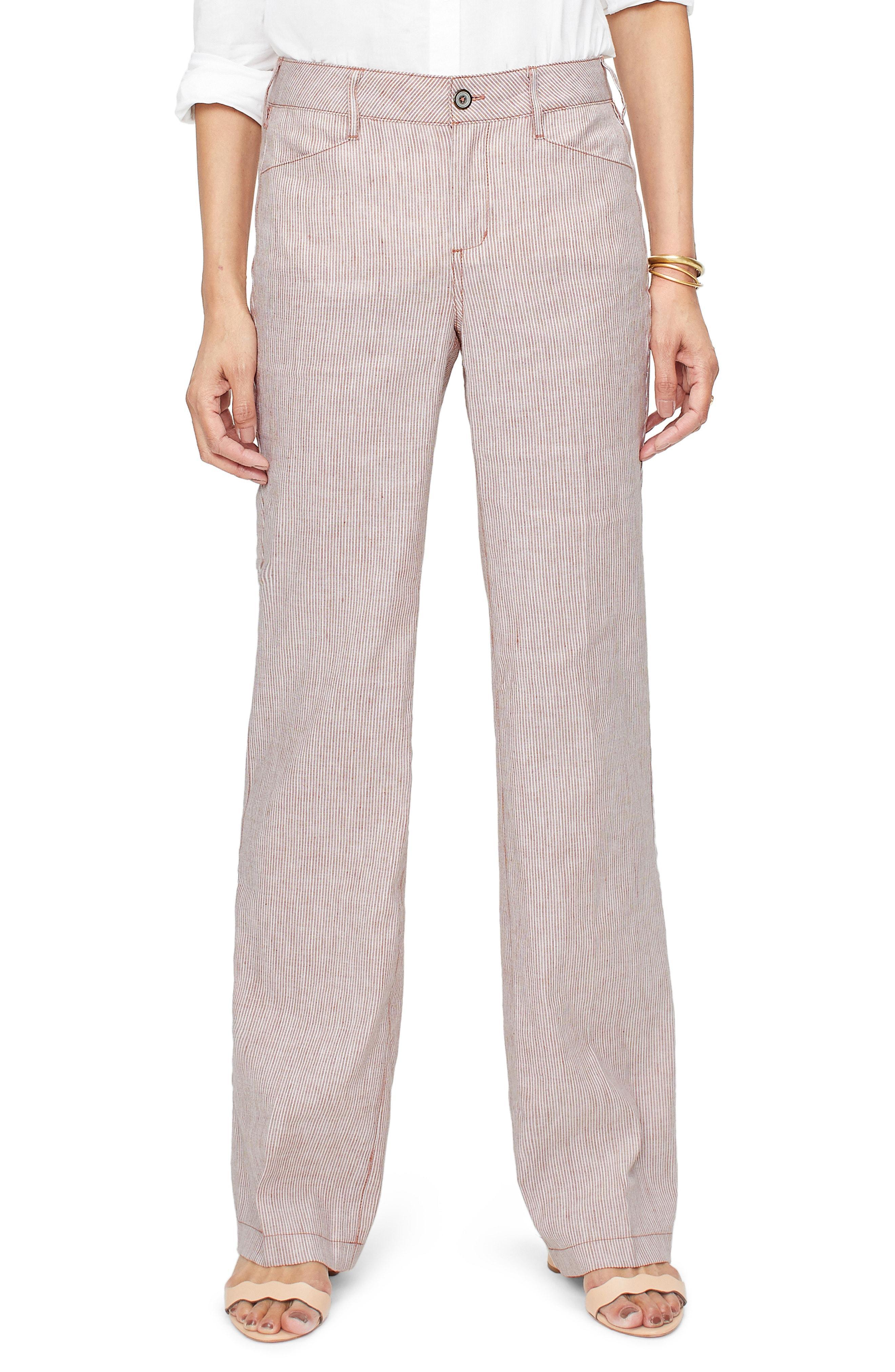 8da27244f91 NYDJ. Women s Stripe Linen   Cotton Trousers