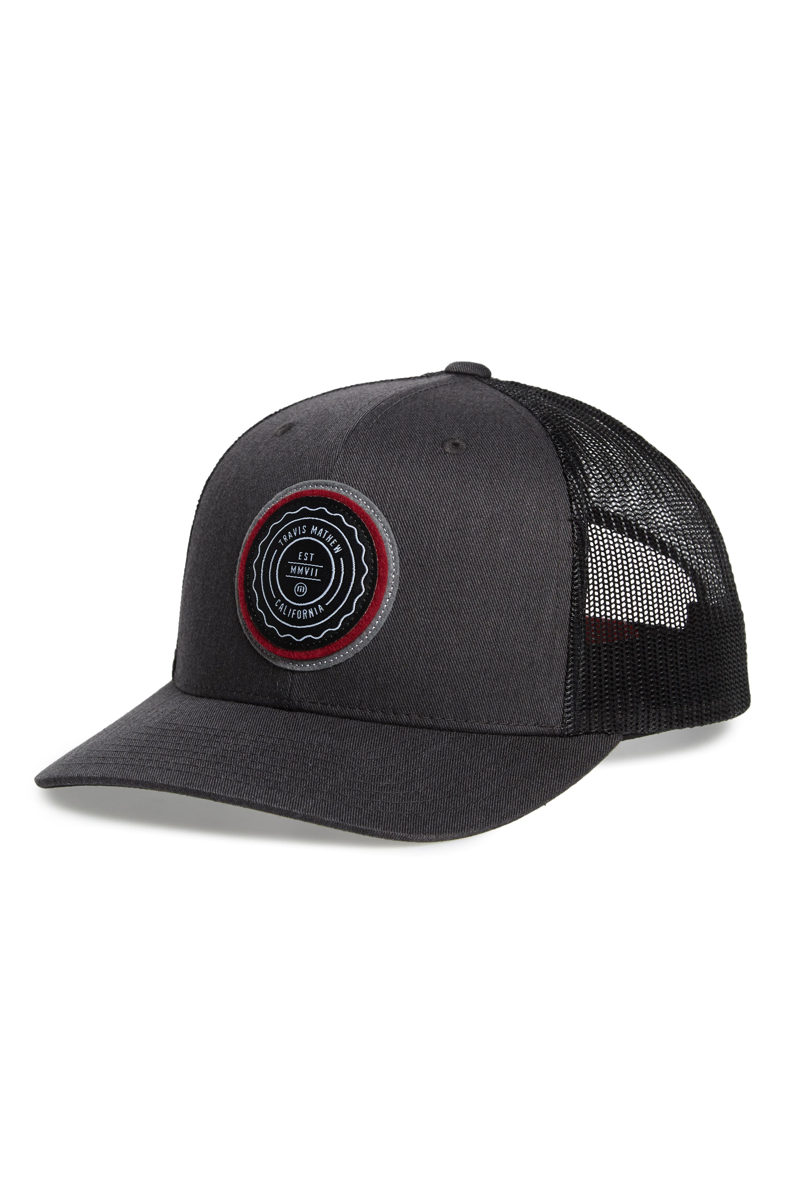 2ac6a09e9 ... official lyst travis mathew trip trucker hat in black for men jpg  2640x4048 travis mathew trucker