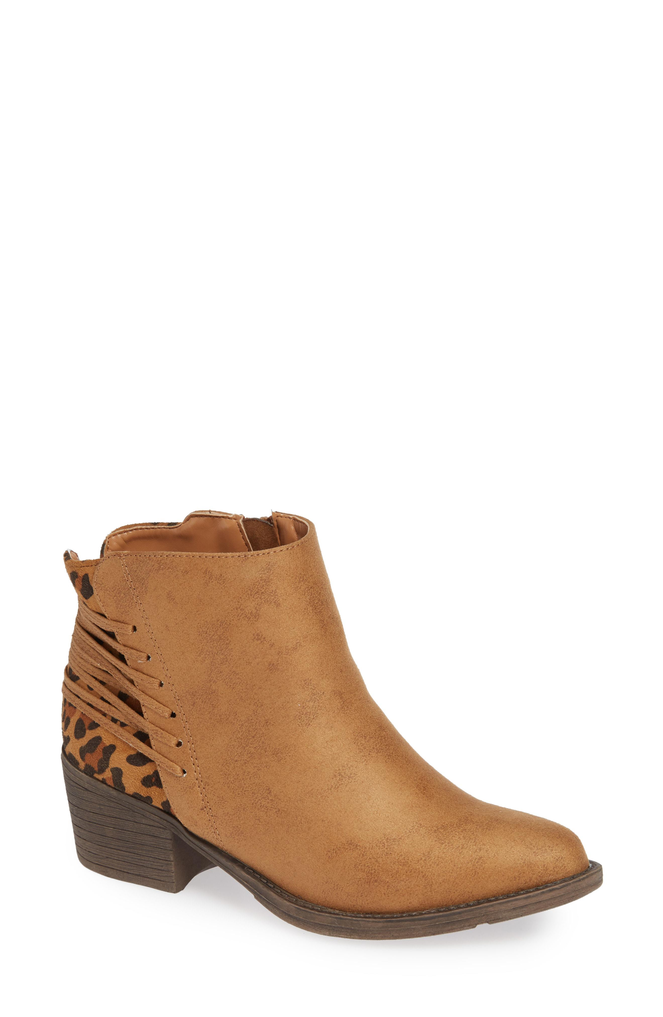 1c5ecf324d6d Lyst - Very Volatile Griselle Strapped Bootie in Brown