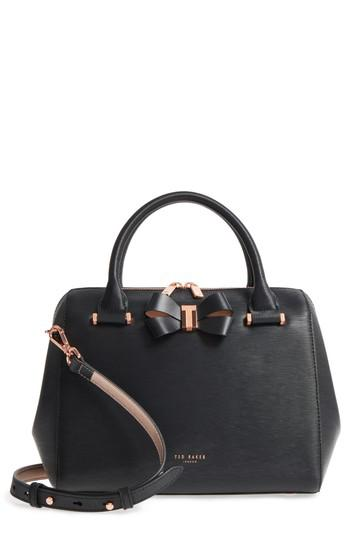 79da62dcc5f Ted Baker Small Bowsiia Leather Bowler Bag in Black - Lyst