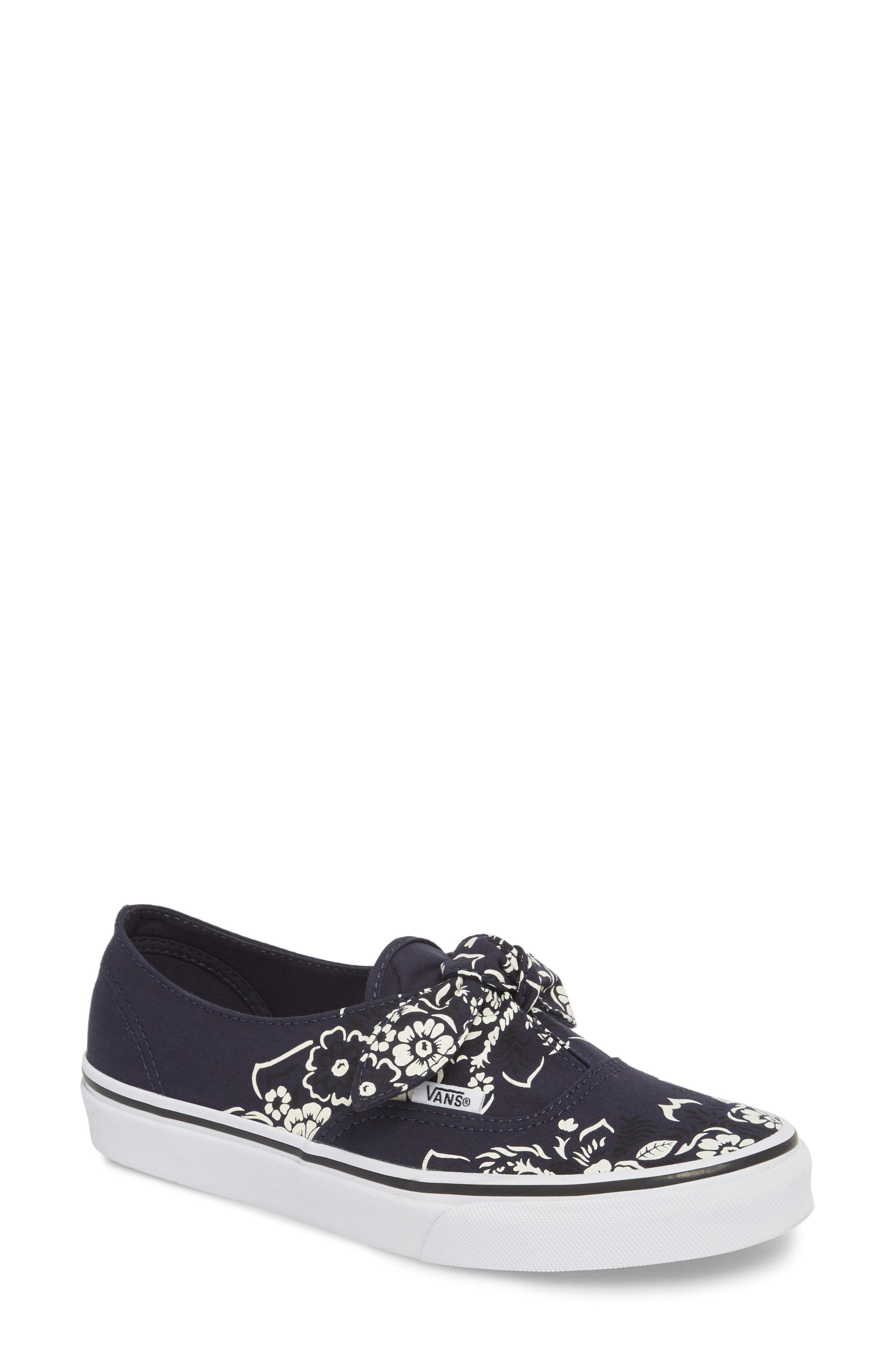 Lyst - Vans Ua Authentic Knotted Floral Bandana Slip-on Sneaker fd54dd5e158f2