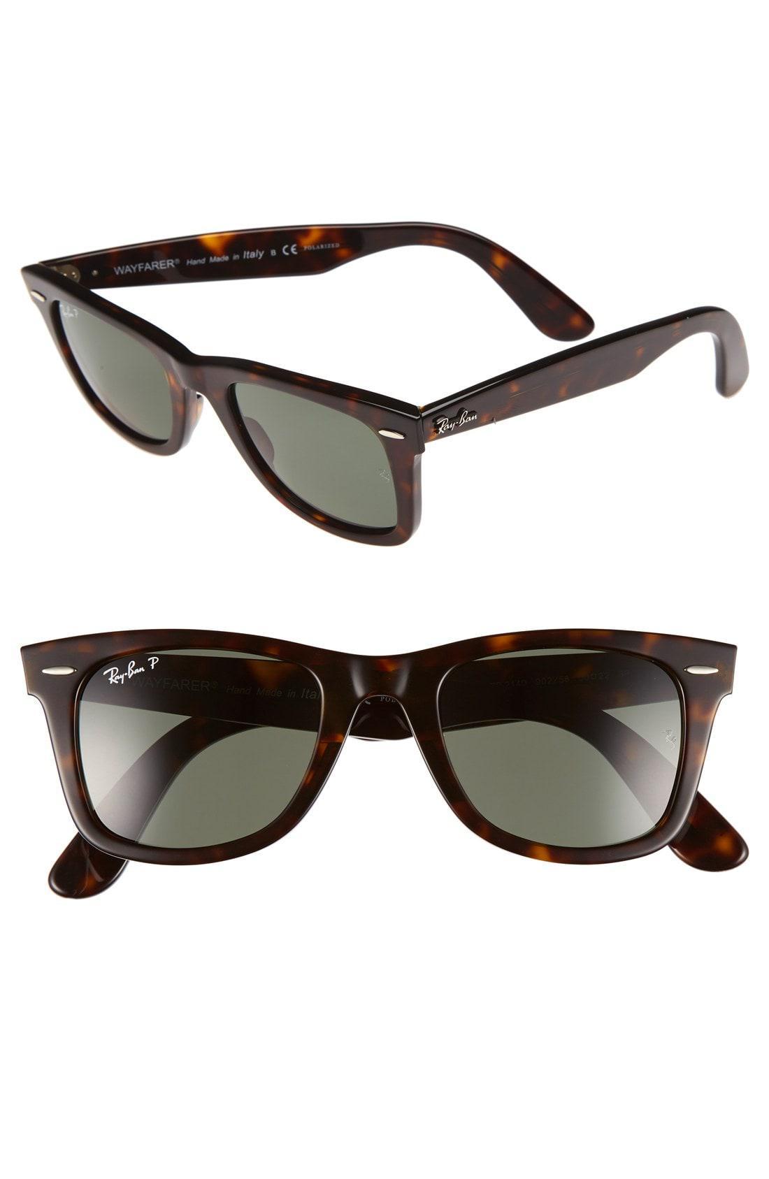 60e8bb34b4 Lyst - Ray-Ban  classic Wayfarer  50mm Polarized Sunglasses in Green ...