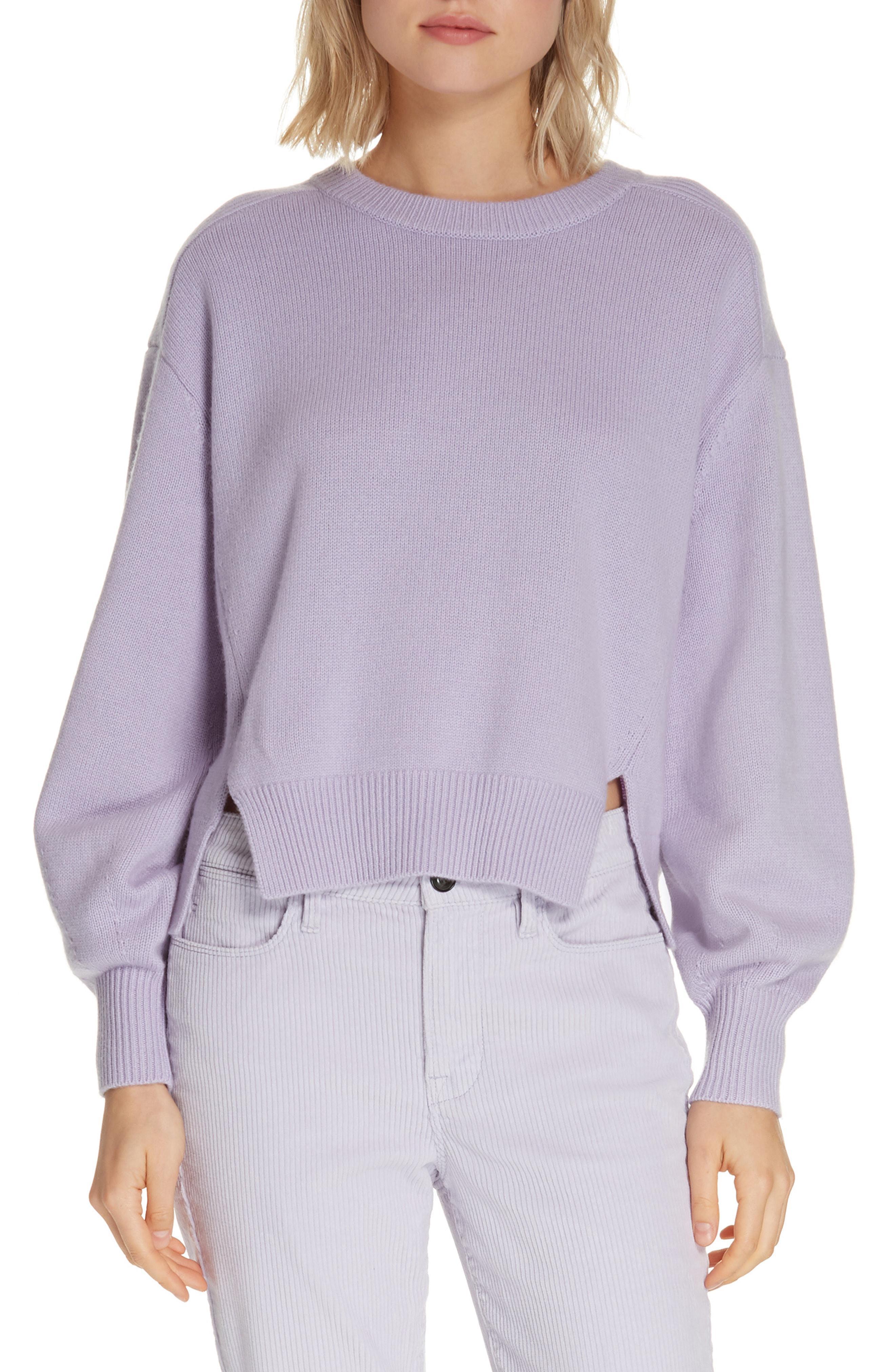 f8083081a76c Lyst - FRAME Swing Wool   Cashmere Sweater in Purple