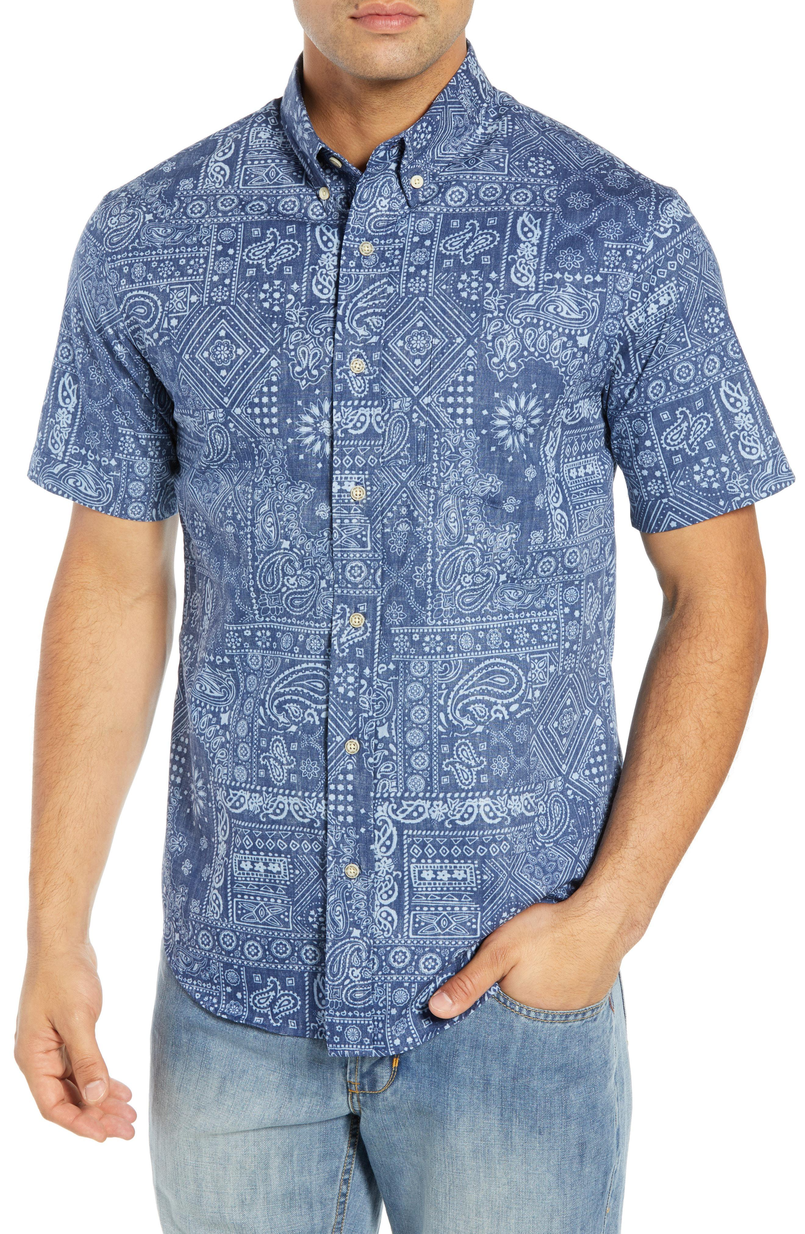 822d87ece42d Lyst - Reyn Spooner Kauhulu Tailored Fit Sport Shirt in Blue for Men ...