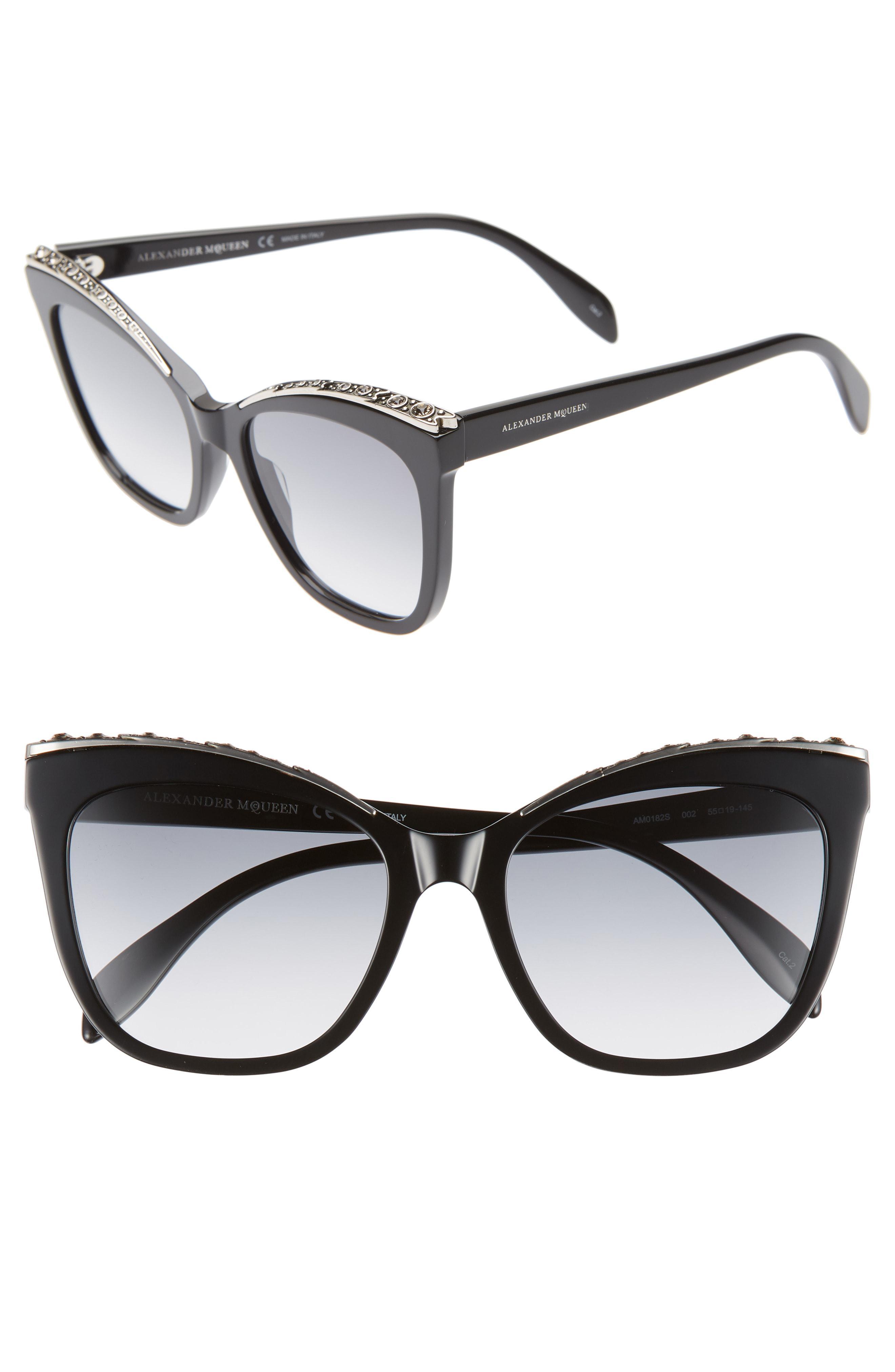 3b8ff7b0b432 Alexander McQueen. Women s 55mm Cat Eye Sunglasses -