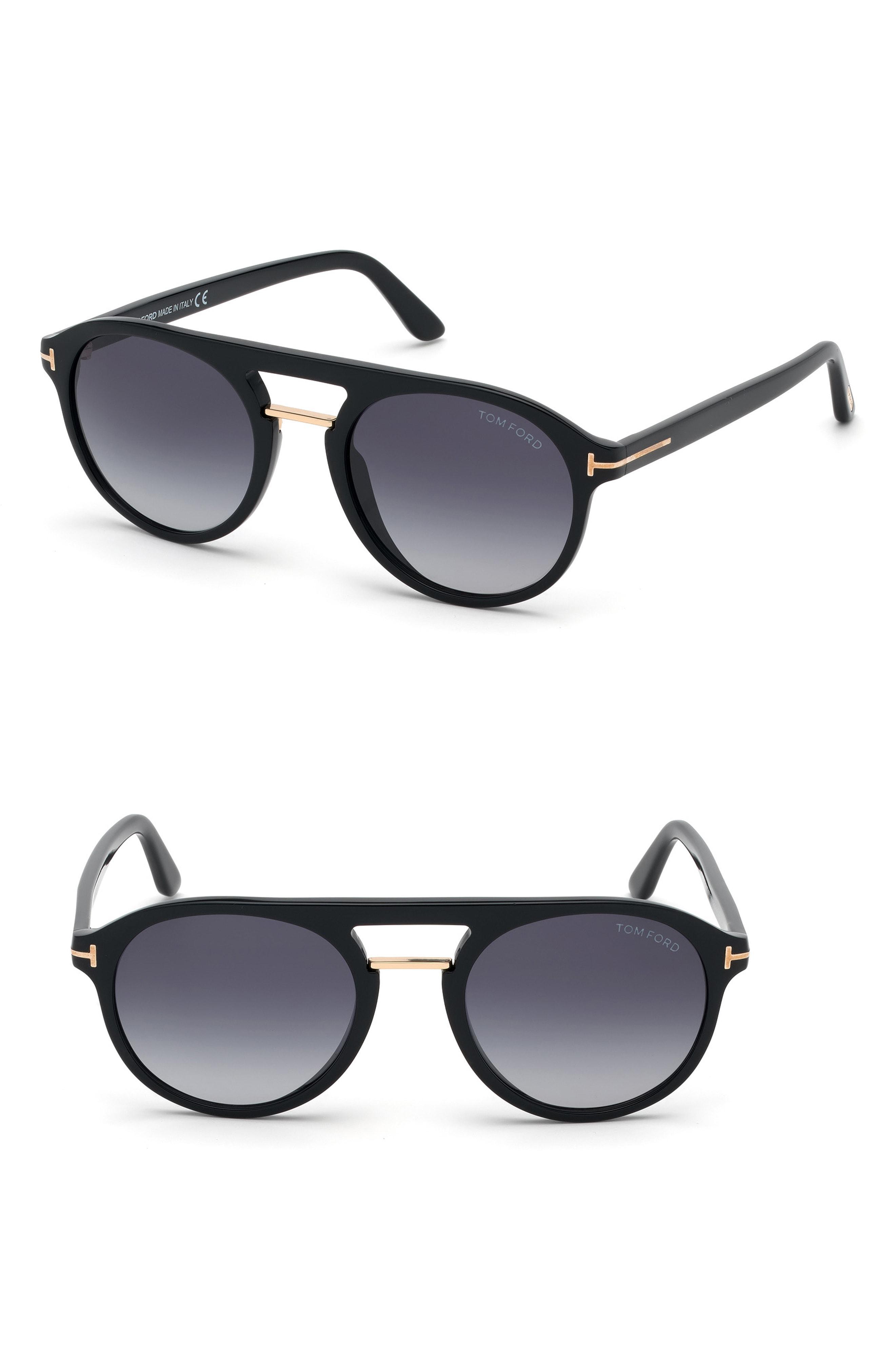 a4ad792d33 Lyst - Tom Ford Ivan 54mm Polarized Aviator Sunglasses - Shiny Black ...