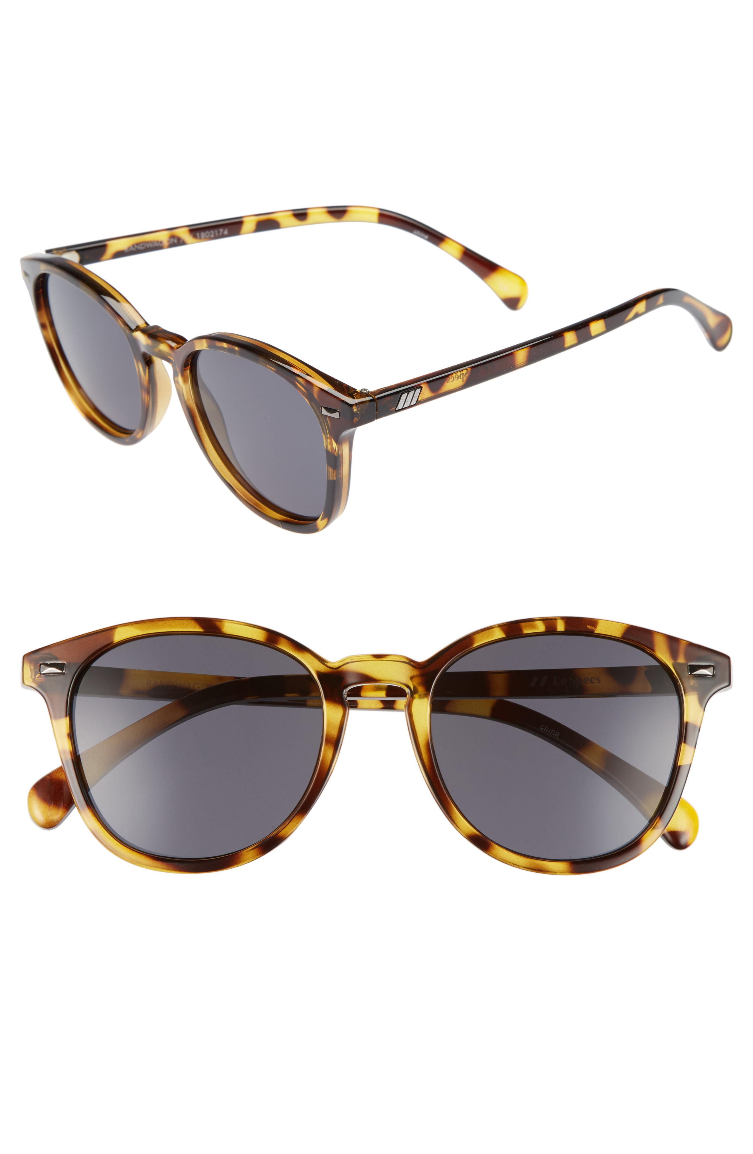 124533b371 Lyst - Le Specs Bandwagon 50mm Sunglasses - Syrup Tortoise in Brown