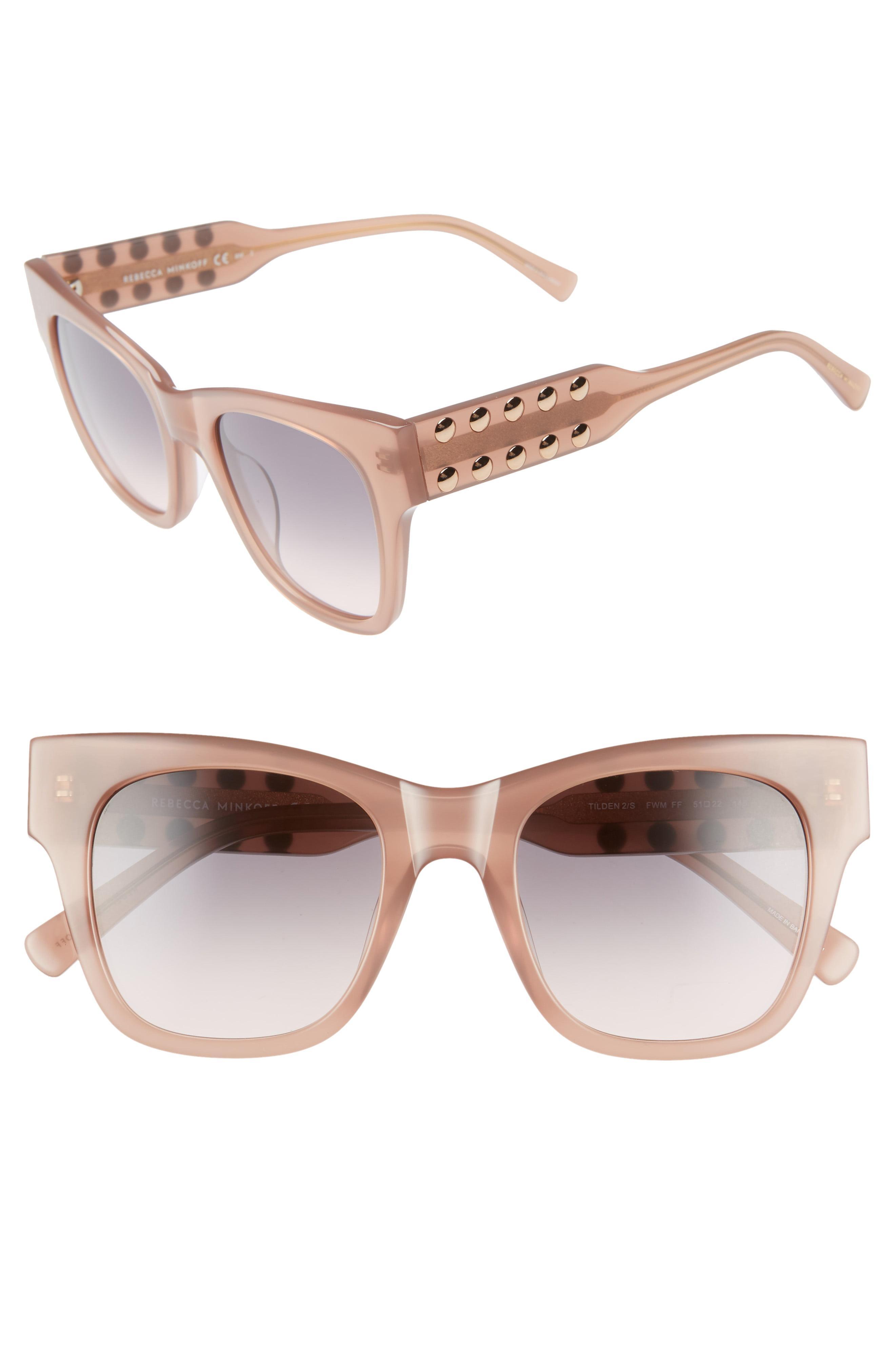 Chanel - Square Plastic CC Logo Sunglasses Nude | Luxury Bags