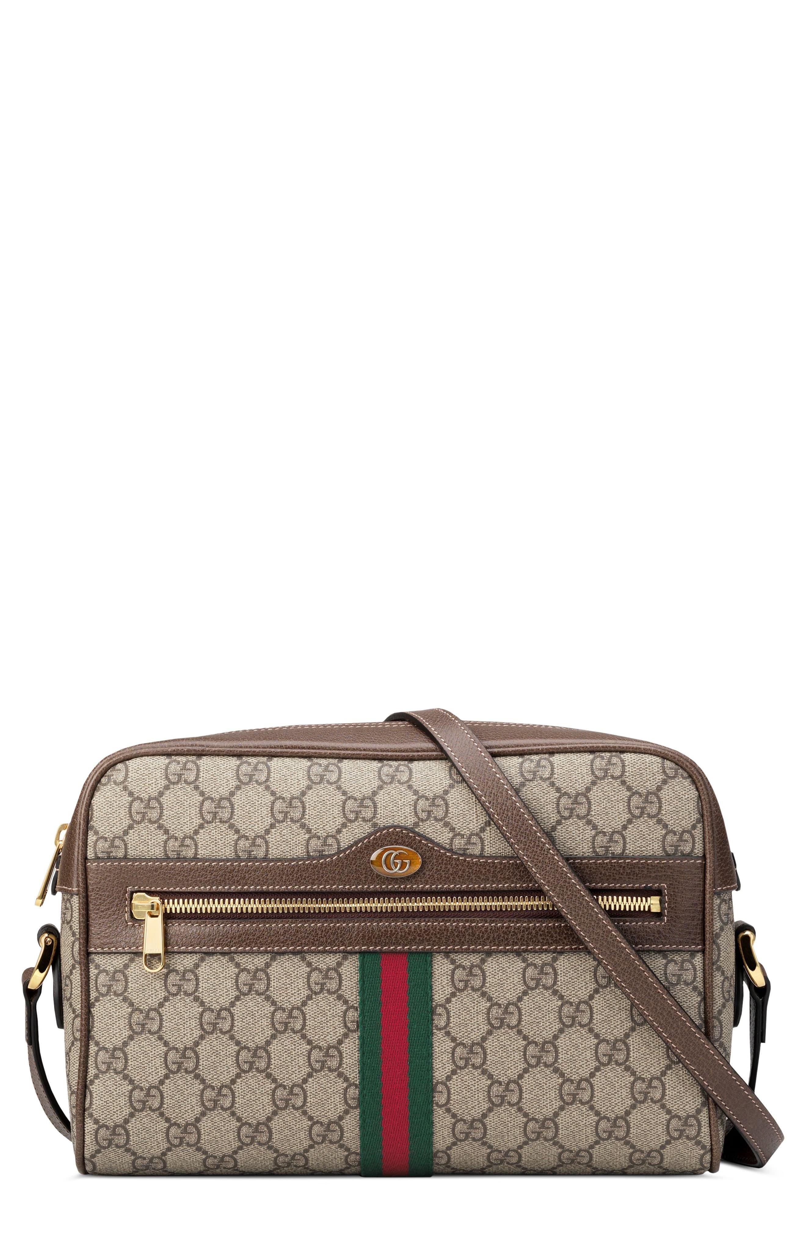 e5a903f3ceba Gucci Ophidia Gg Supreme Canvas Crossbody Bag in Natural - Lyst