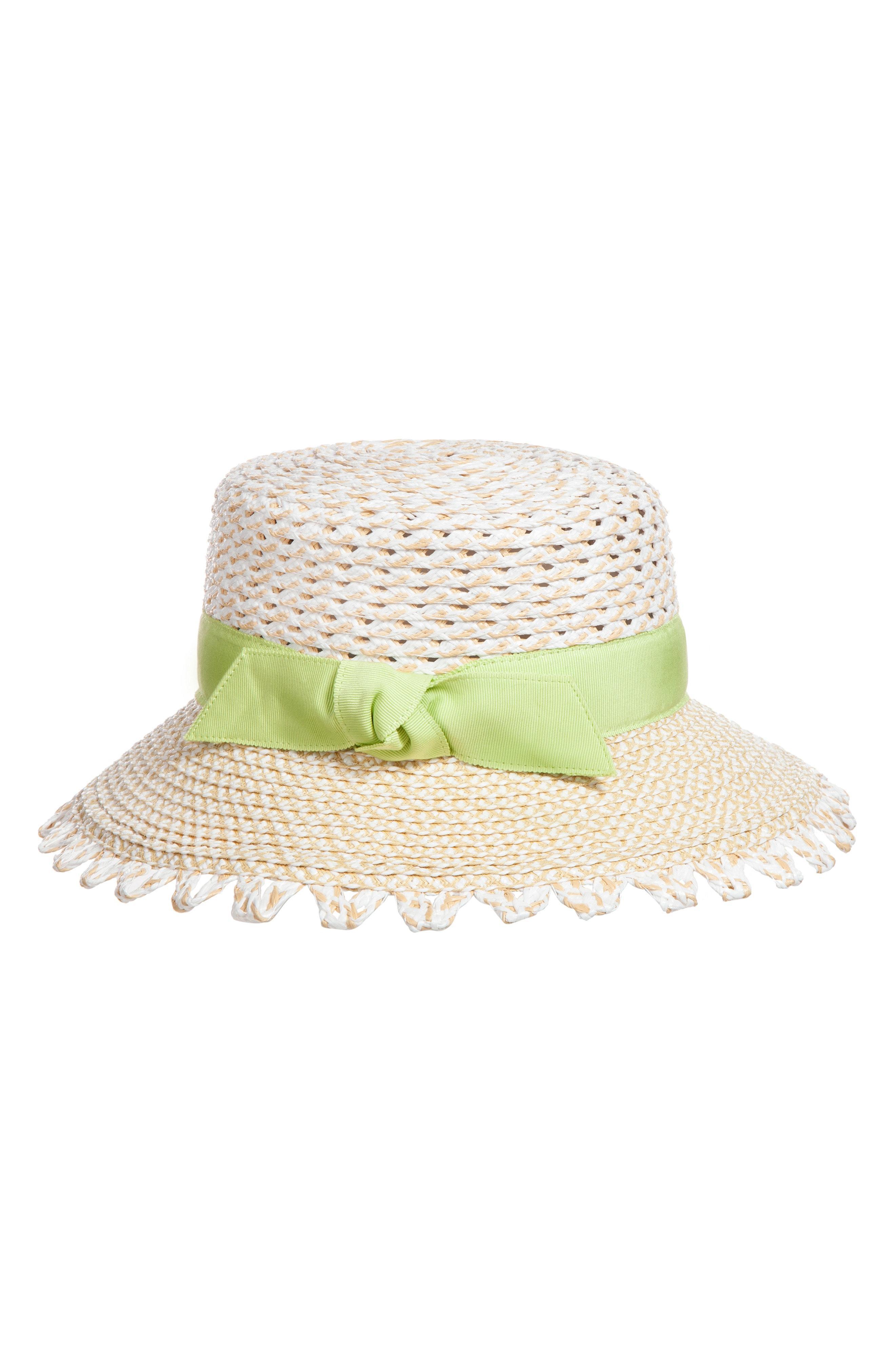 4476b34b7df71 Lyst - Eric Javits Montauk Squishee Sun Hat in White