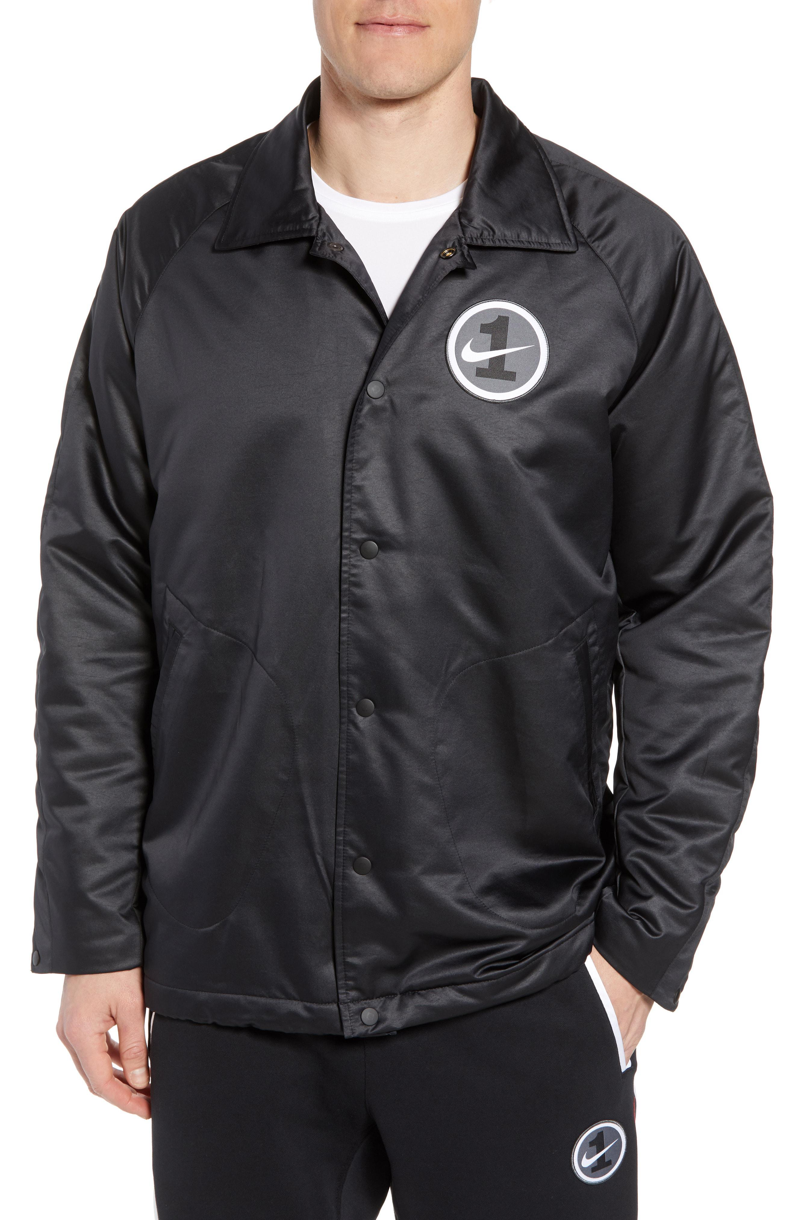 Nike Air Force One Coach Jacket in Black for Men Lyst
