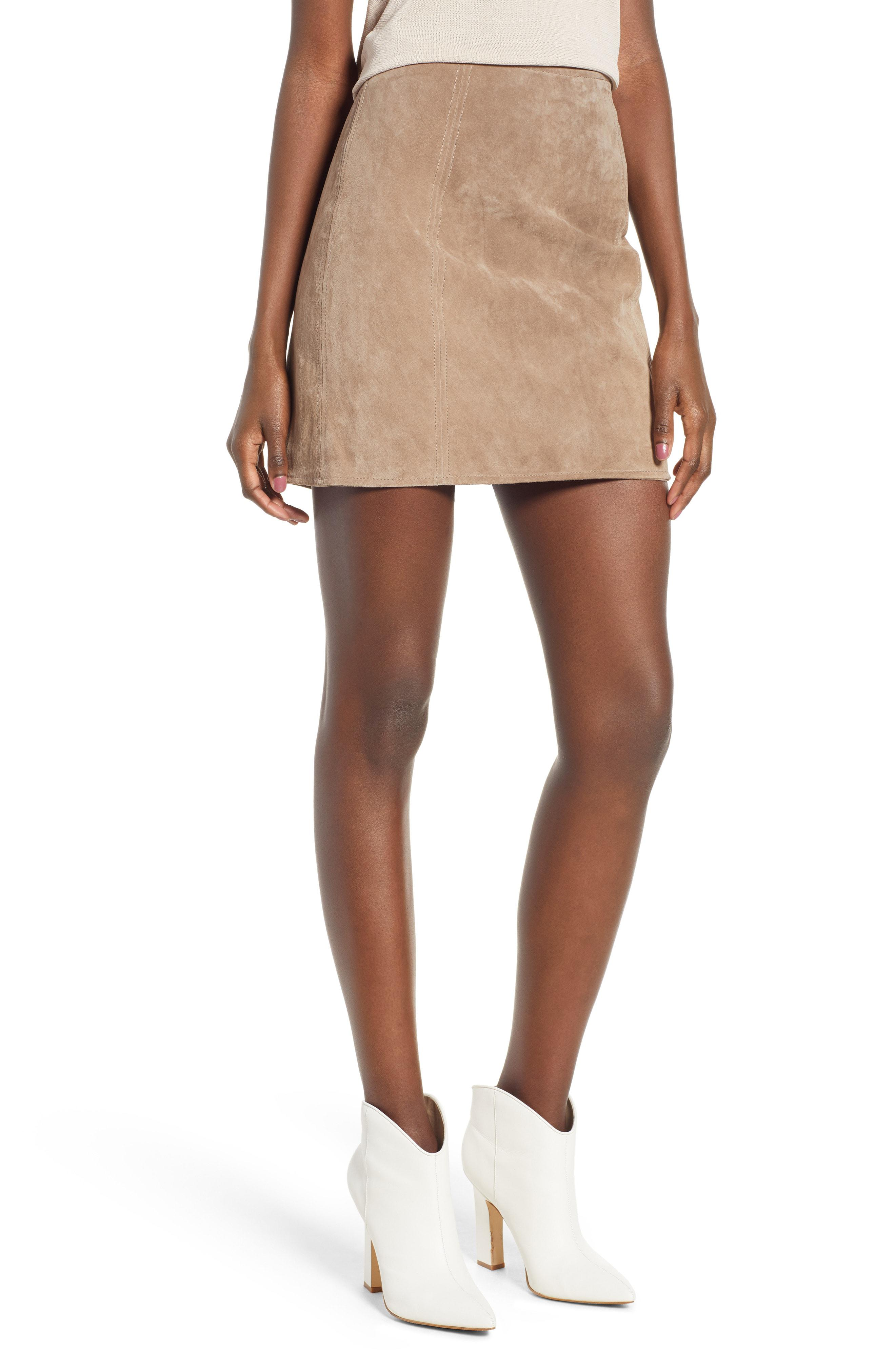 09c07fdd37 Blank NYC A-line Suede Skirt - Lyst
