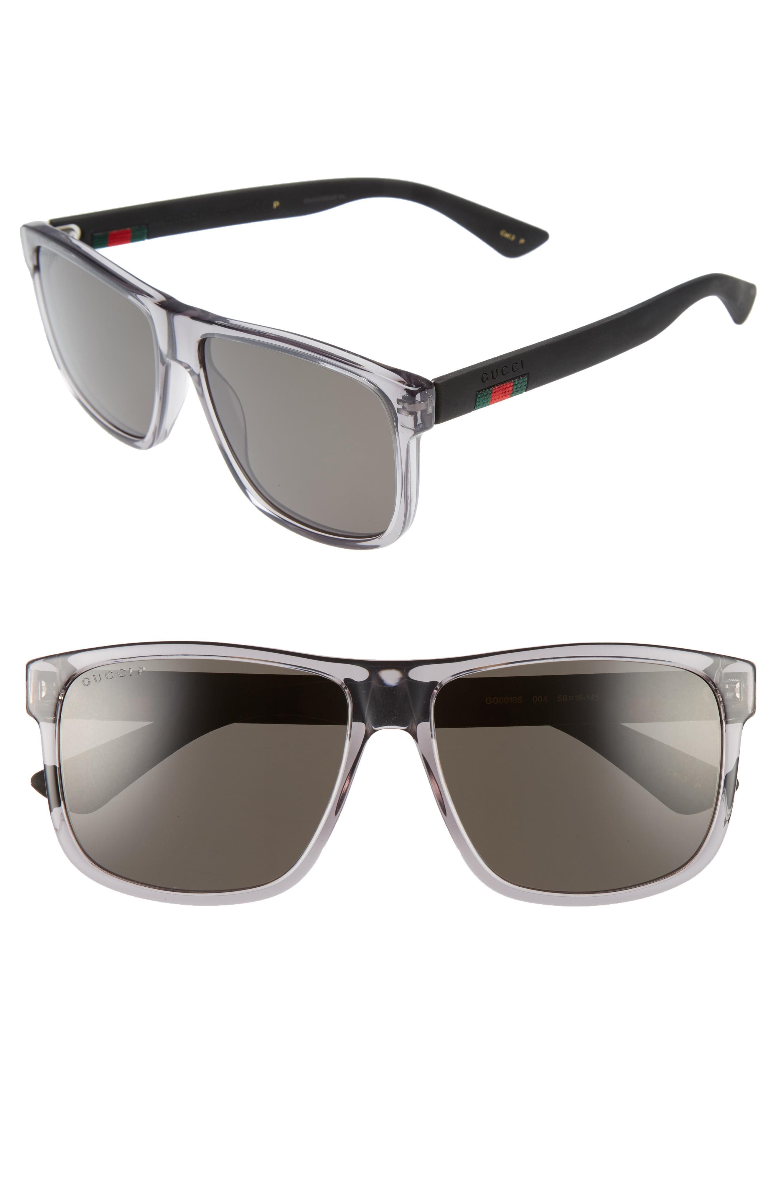 a4dcb078ad3af Lyst - Gucci 58mm Polarized Sunglasses - Transparent Grey W  Grey ...