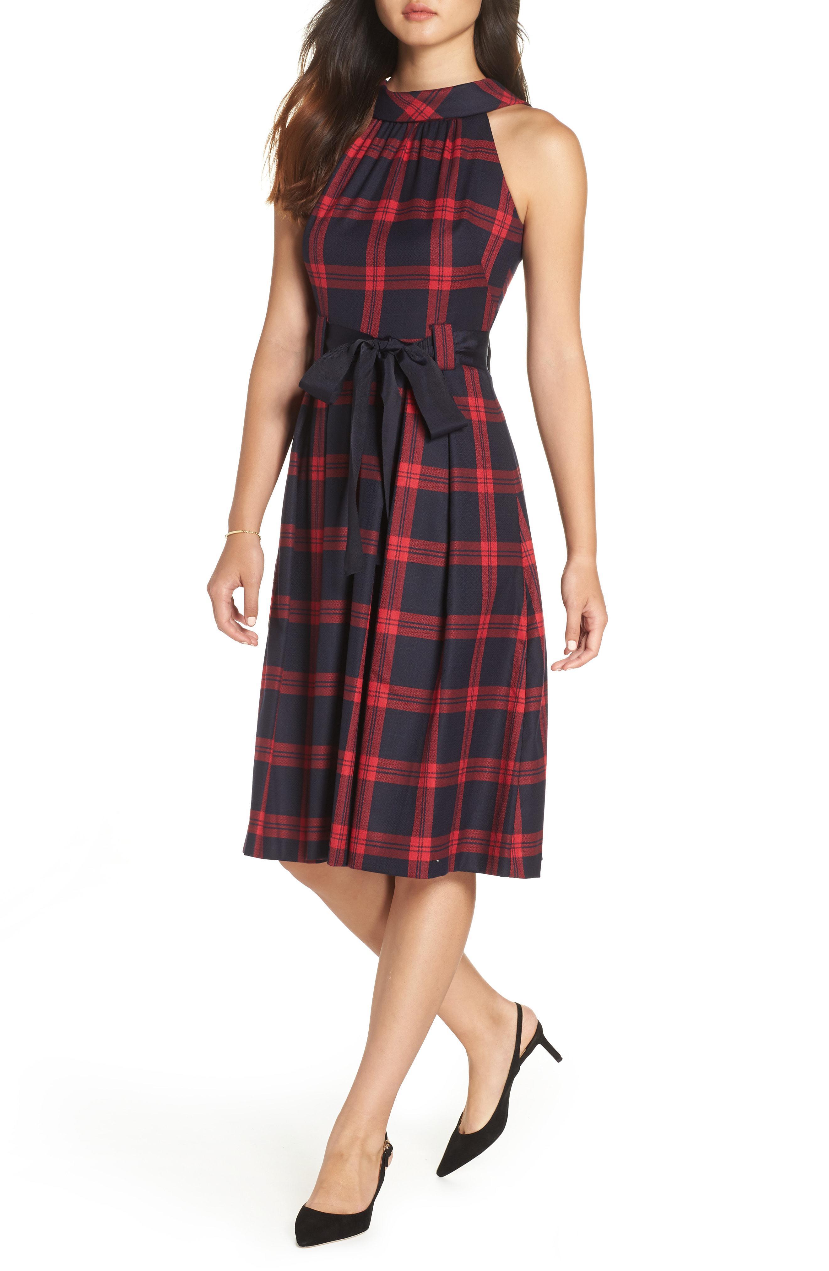 7f210f2cdb3 Lyst - Nordstrom 1901 Jacquard Fit   Flare Dress in Red