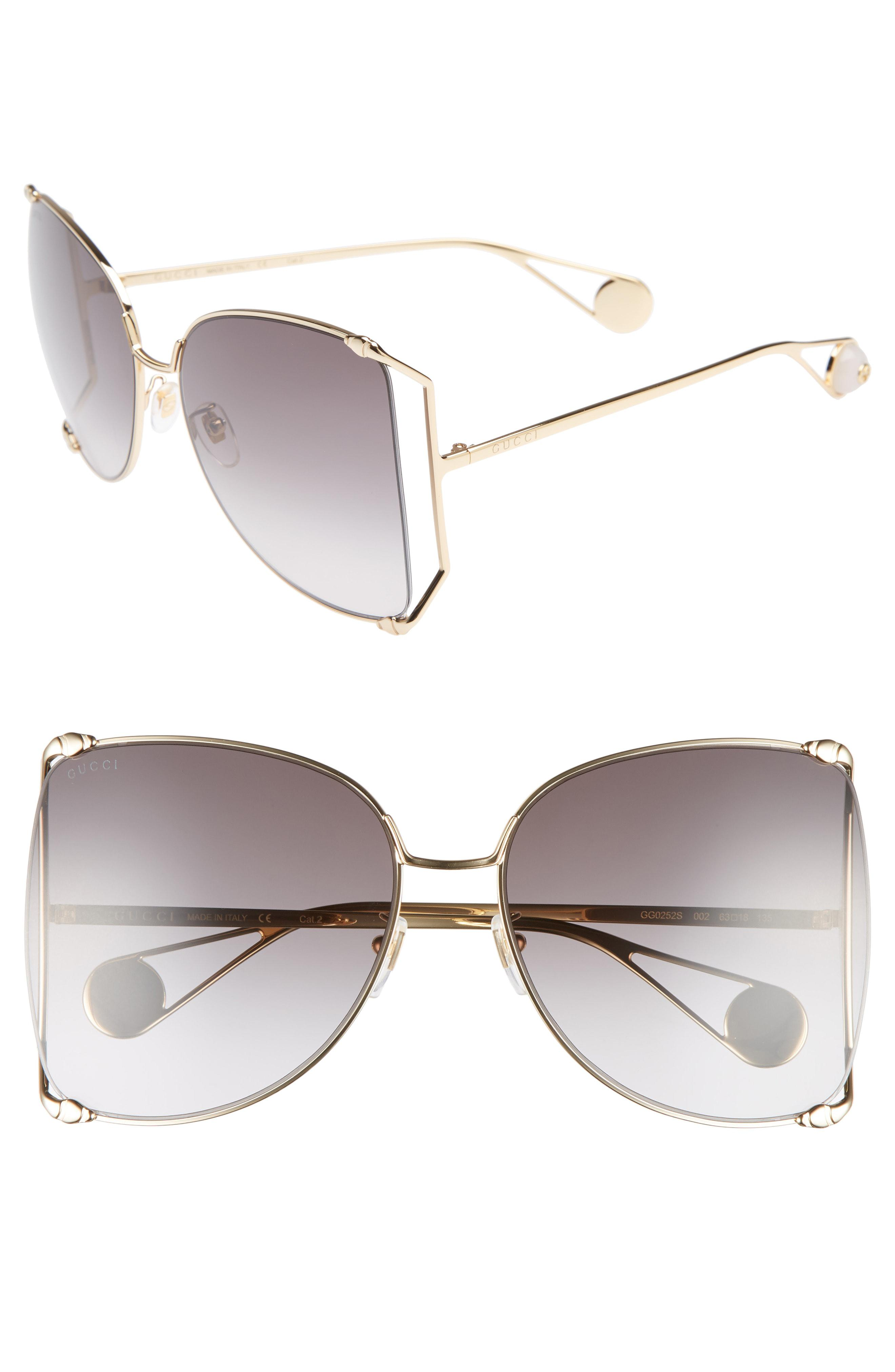 0db0118672 Gucci. Women s 63mm Gradient Oversize Butterfly Sunglasses -