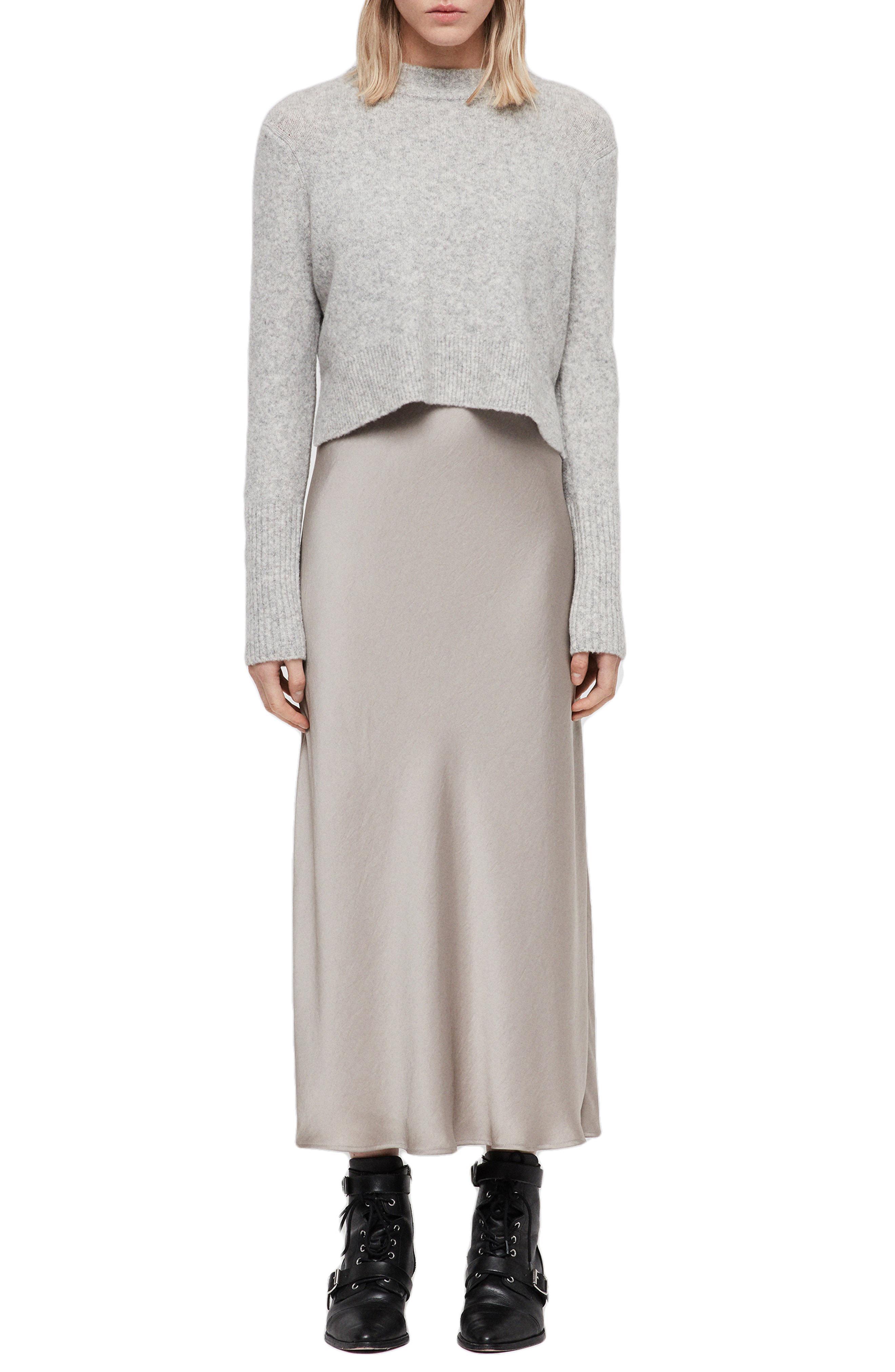 808cf58272 AllSaints Tierny Two-piece Sweater   Slipdress in Gray - Lyst
