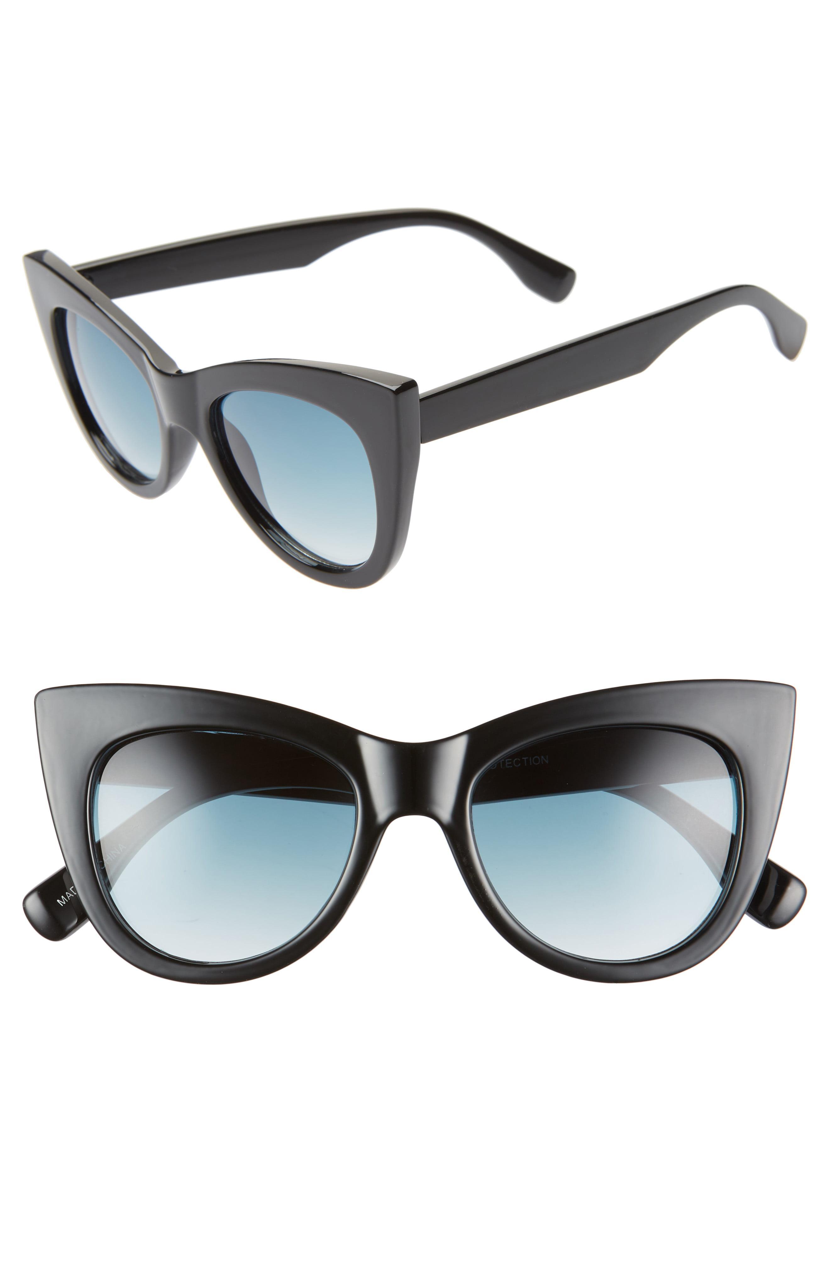 9868e10c9ac45 Lyst - BP. 50mm Gradient Cat Eye Sunglasses - in Blue