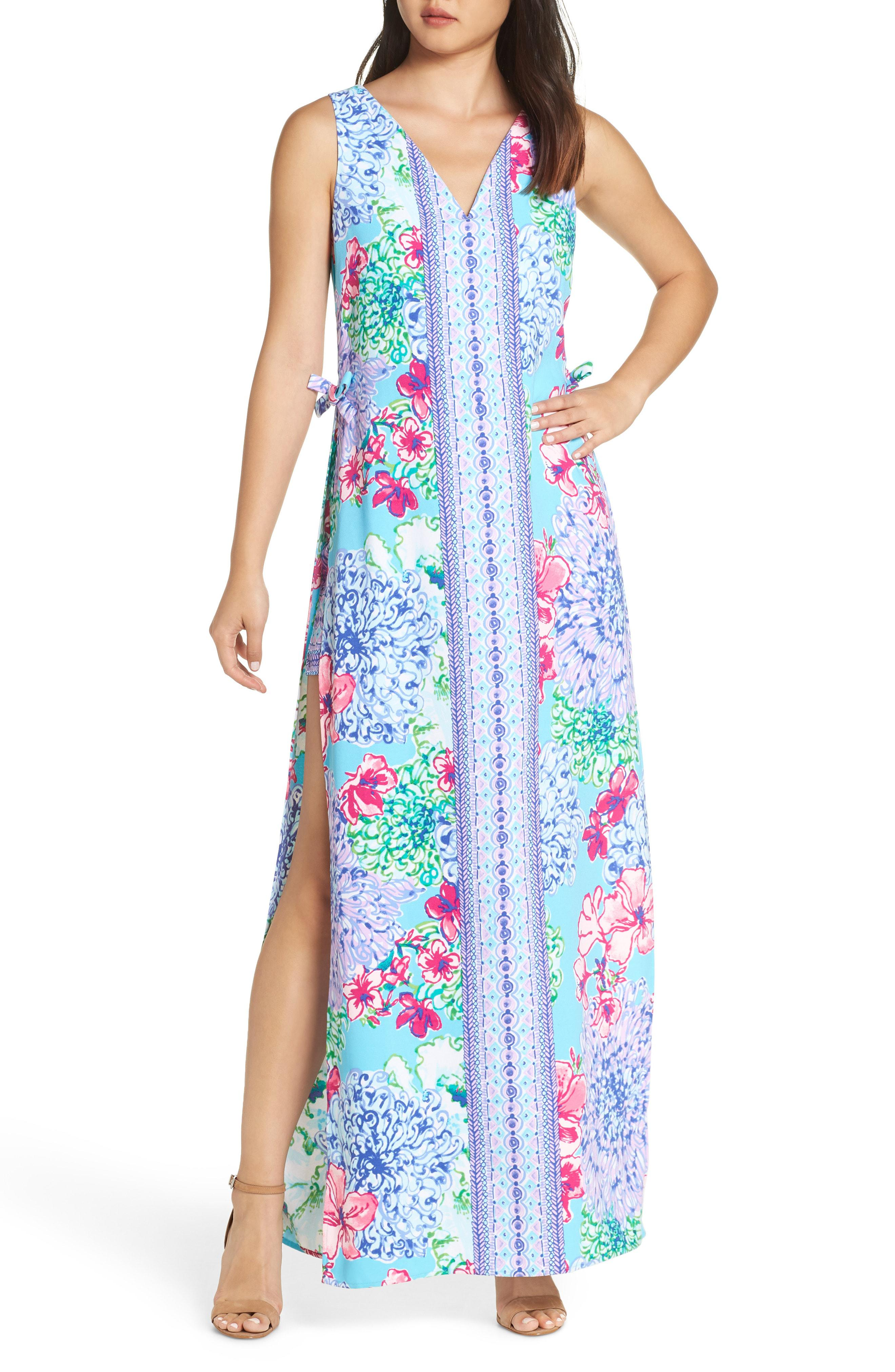 2cc46dfd59 Lyst - Lilly Pulitzer Lilly Pulitzer Donna Maxi Romper in Blue