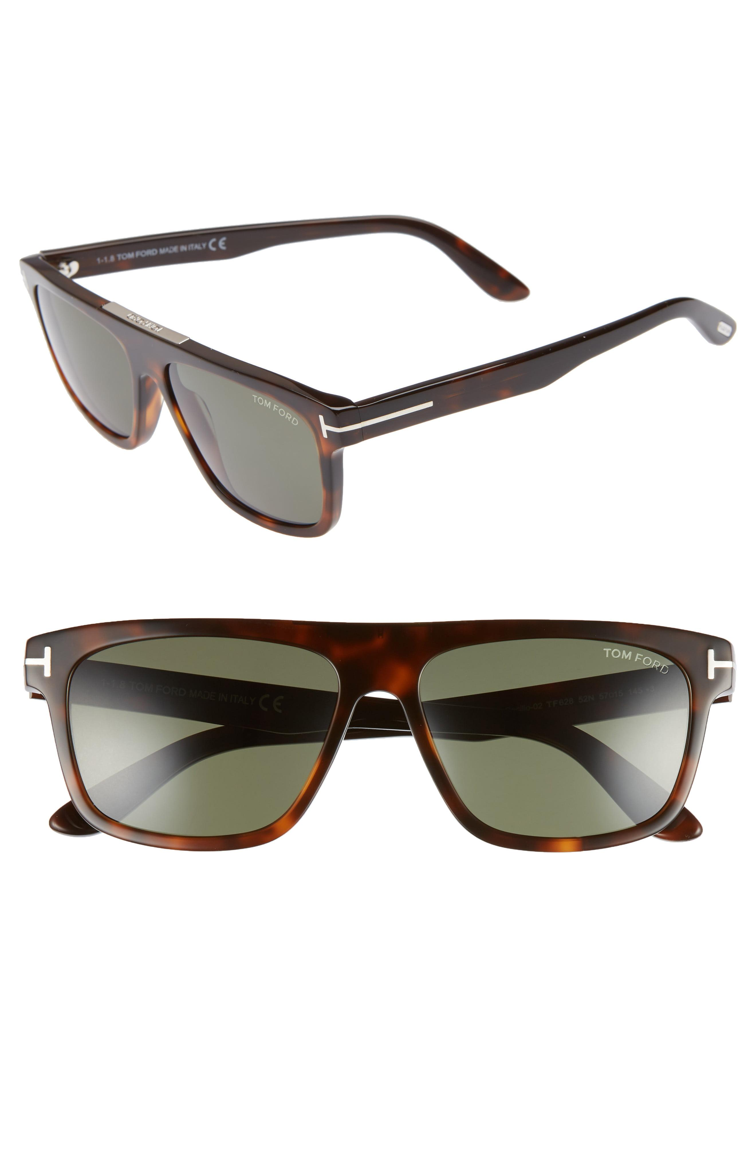 df54b8ad23f2c Tom Ford - Cecilio 57mm Blue Block Optical Glasses - Dark Havana  Green -  Lyst. View fullscreen